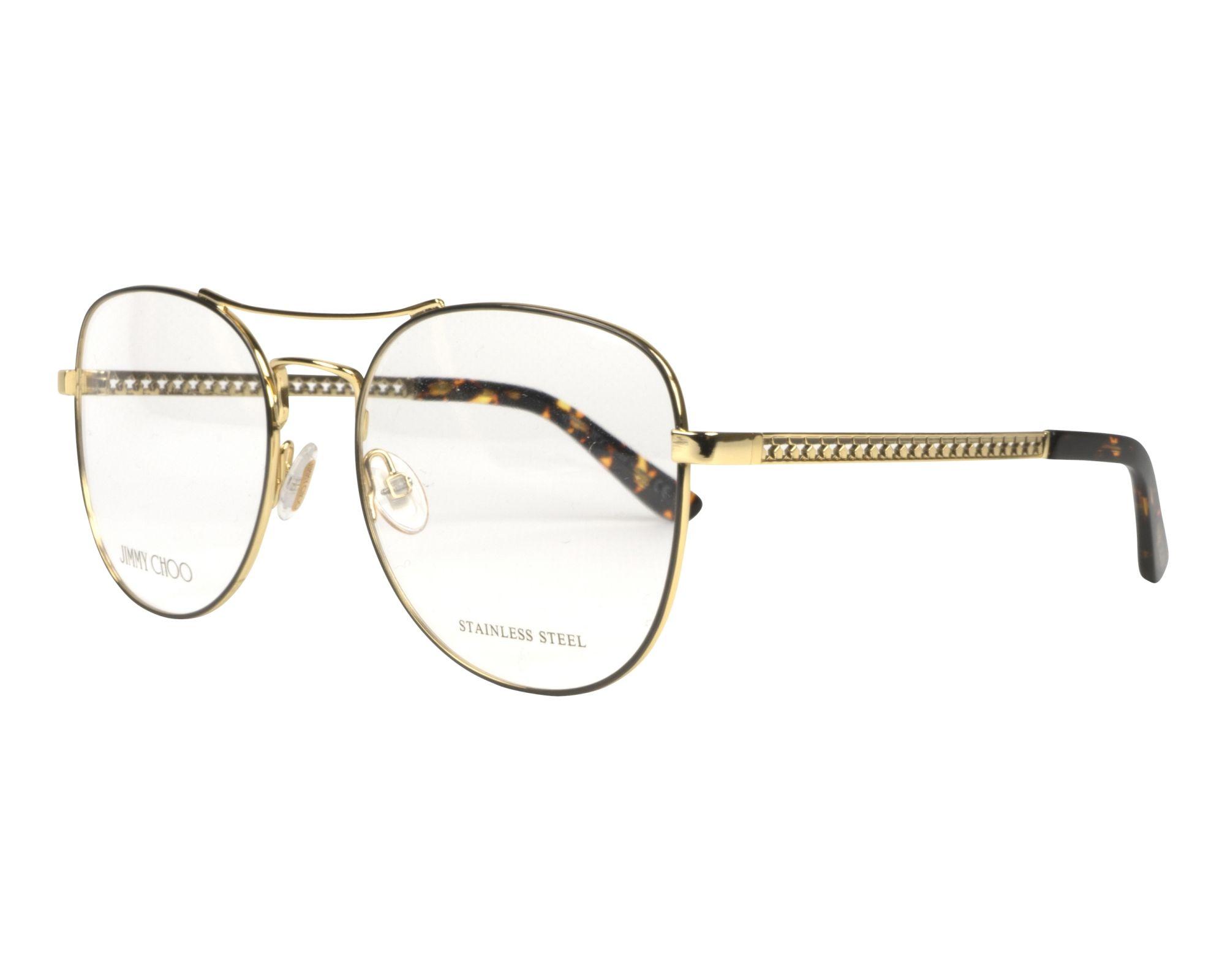 8d313517d343 Eyeglasses jimmy choo vue gold grey profile view jpg 2000x1600 Jimmy choo  eyewear