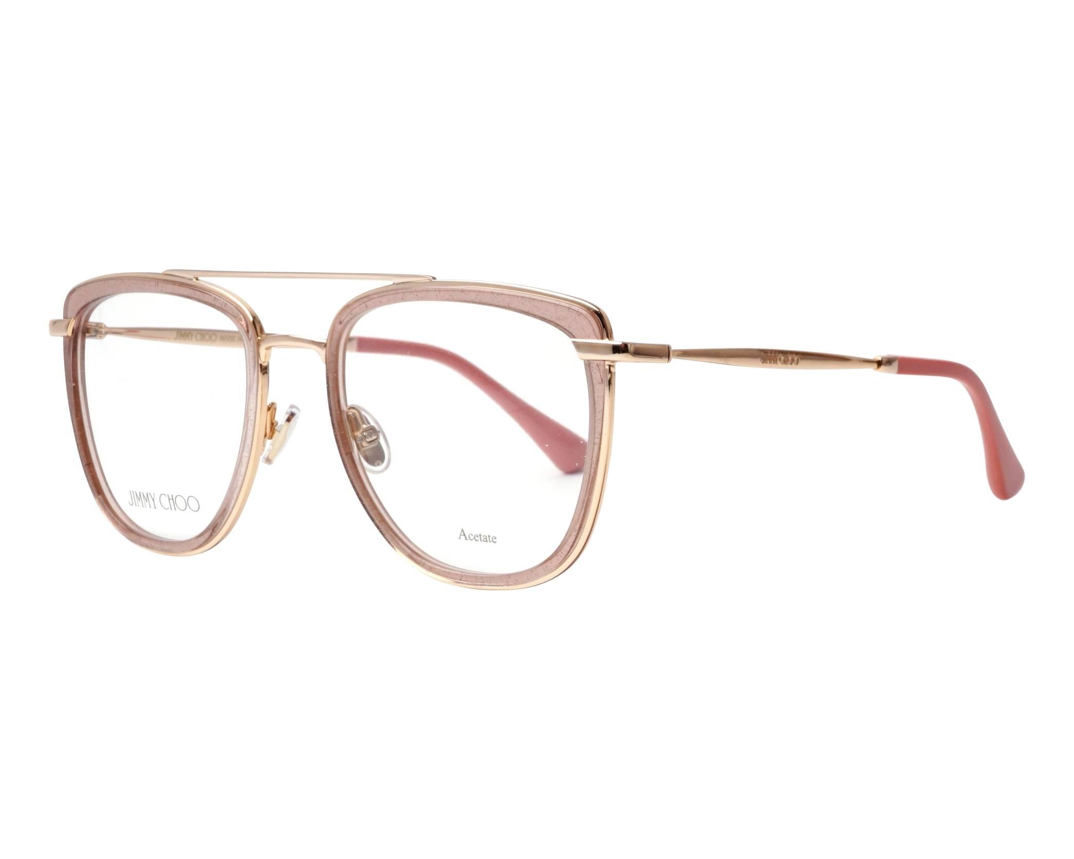 25794e3be9a4 eyeglasses Jimmy Choo JC-219 FWM 52-20 Rosa Gold profile view