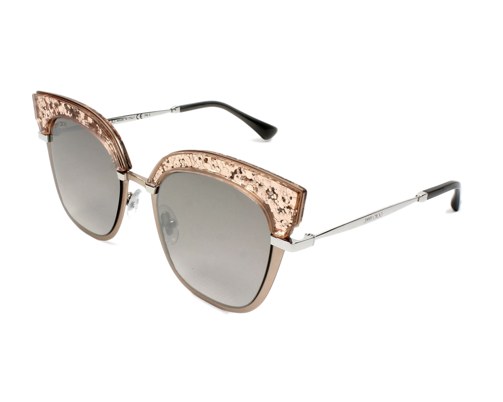 1b7aad6ae63 Sunglasses Jimmy Choo ROSY-S 68I NQ 51-20 Rose gold profile view