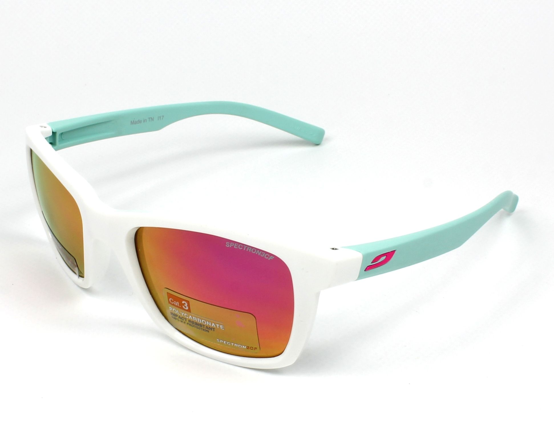 e256201475 Sunglasses Julbo J477 1110 - White Green profile view