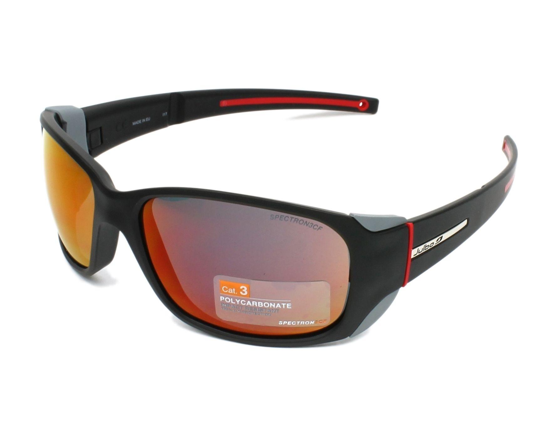 cd8dfbeff9 Sunglasses Julbo J401 1114 58-15 Black Red profile view