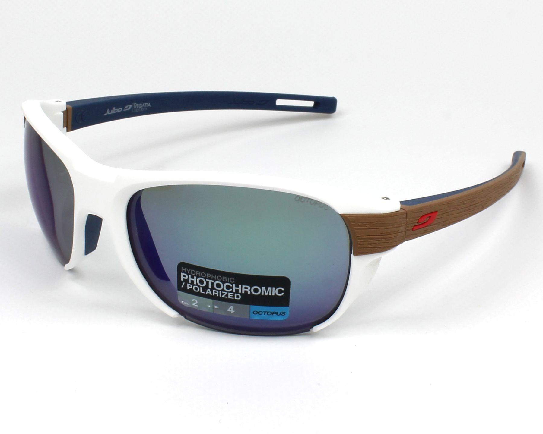 0fbb2ae9c4a99 Sunglasses Julbo J500 8011 61-20 White Brown profile view