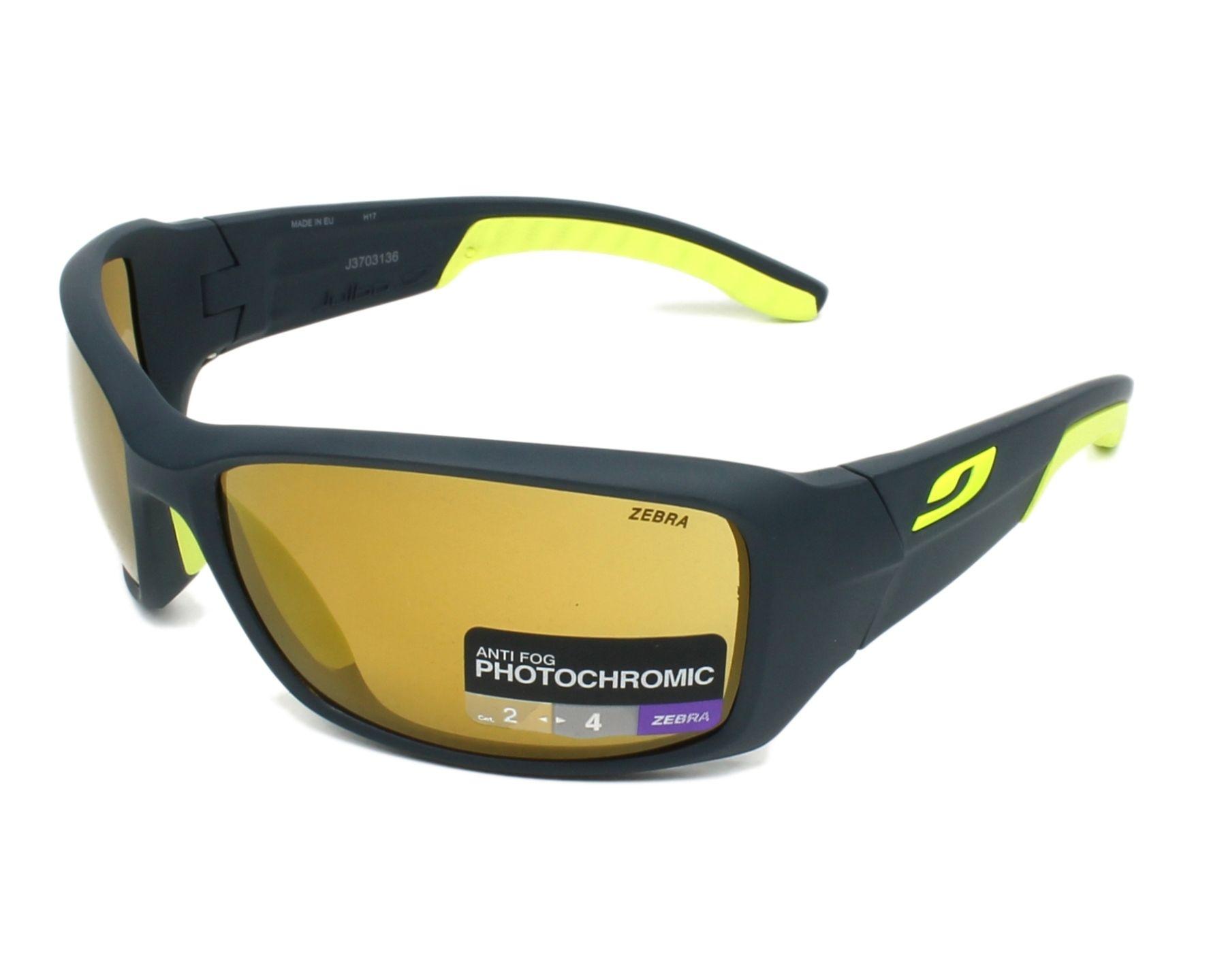 Sunglasses Julbo J370 3136 66-17 Blue Yellow profile view 745ac463e5c6