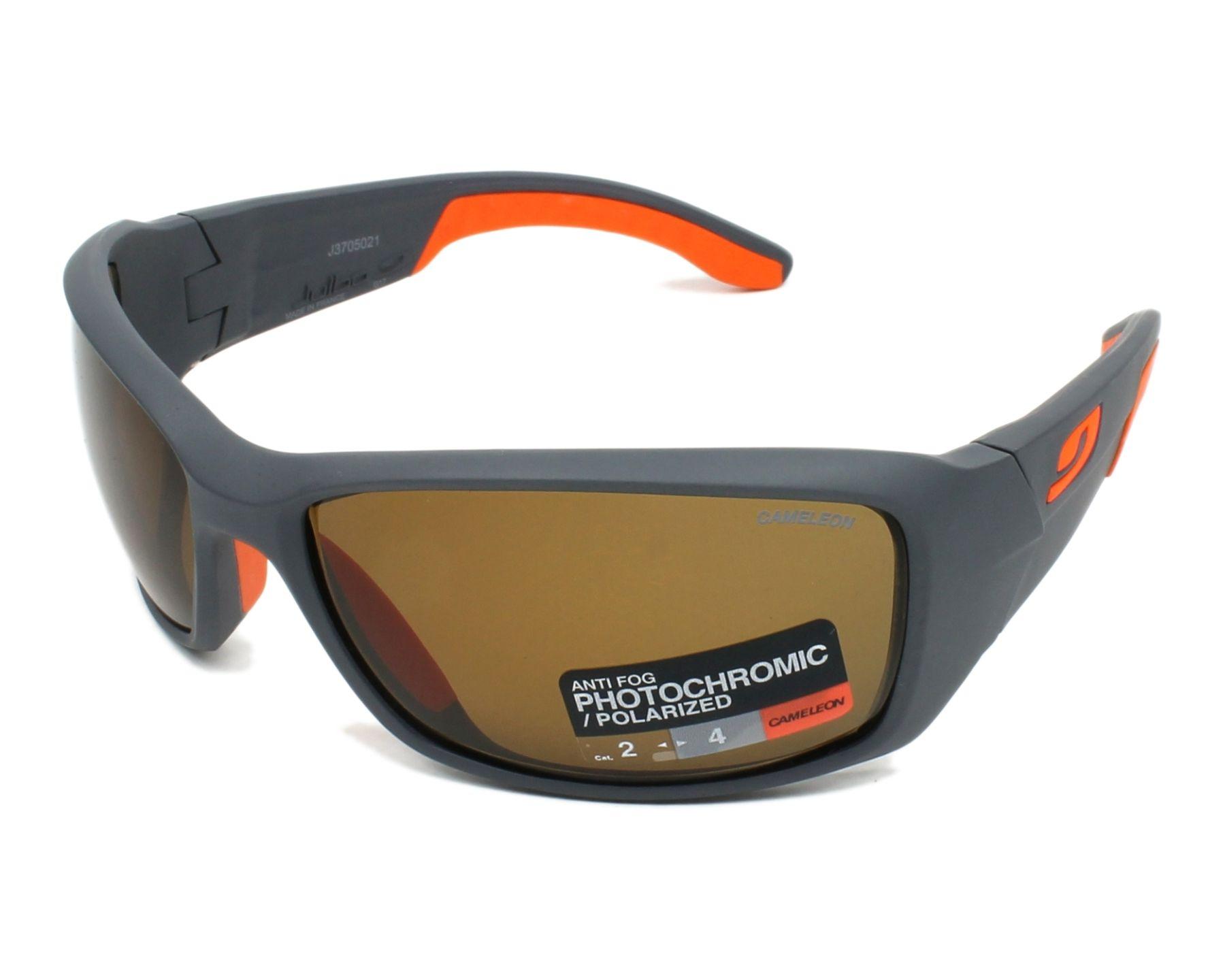 adff42437ae Sunglasses Julbo J370 5021 66-17 Grey Orange profile view