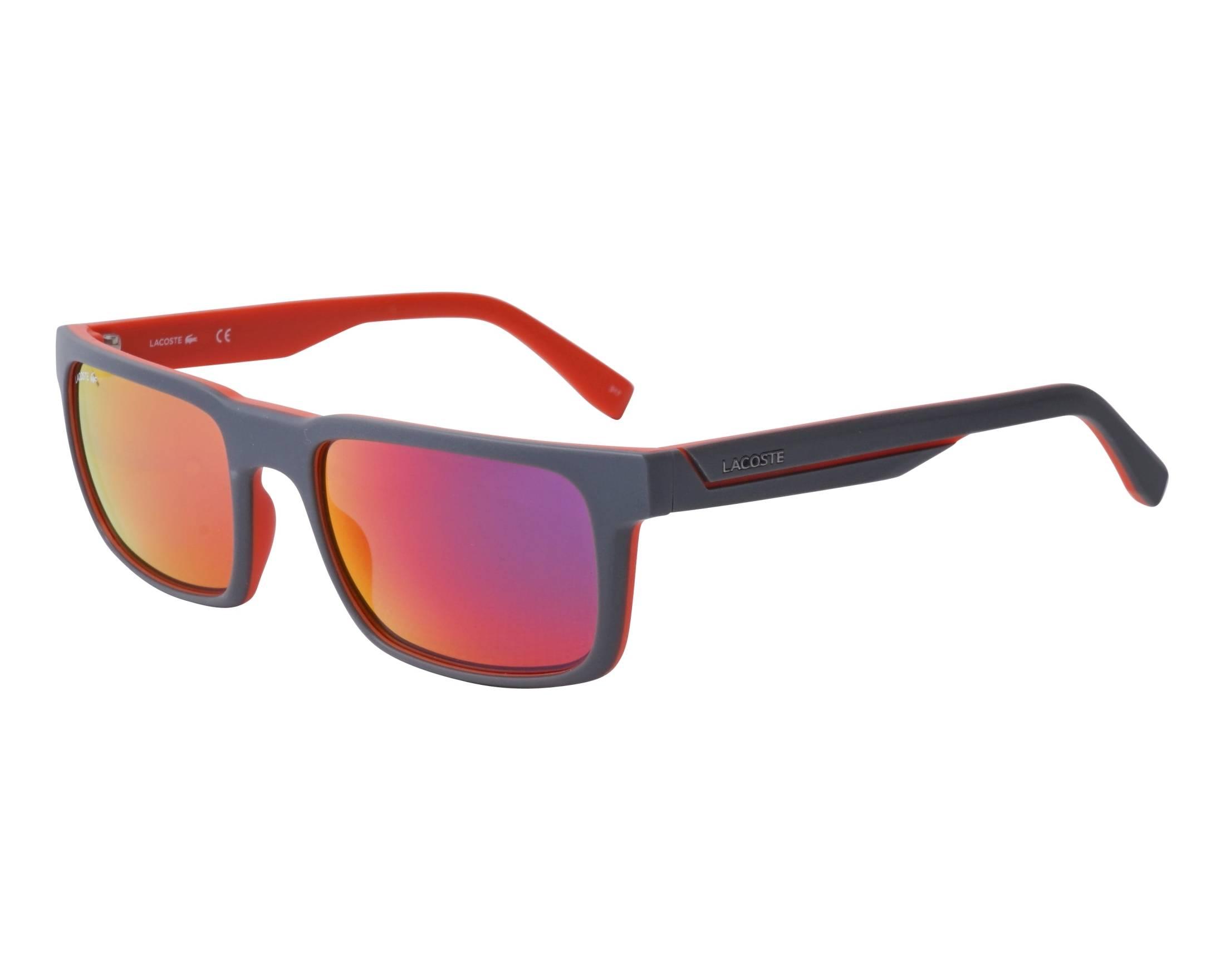 4be36cfe8def Sunglasses Lacoste L-866-S 035 56-20 Black Orange profile view