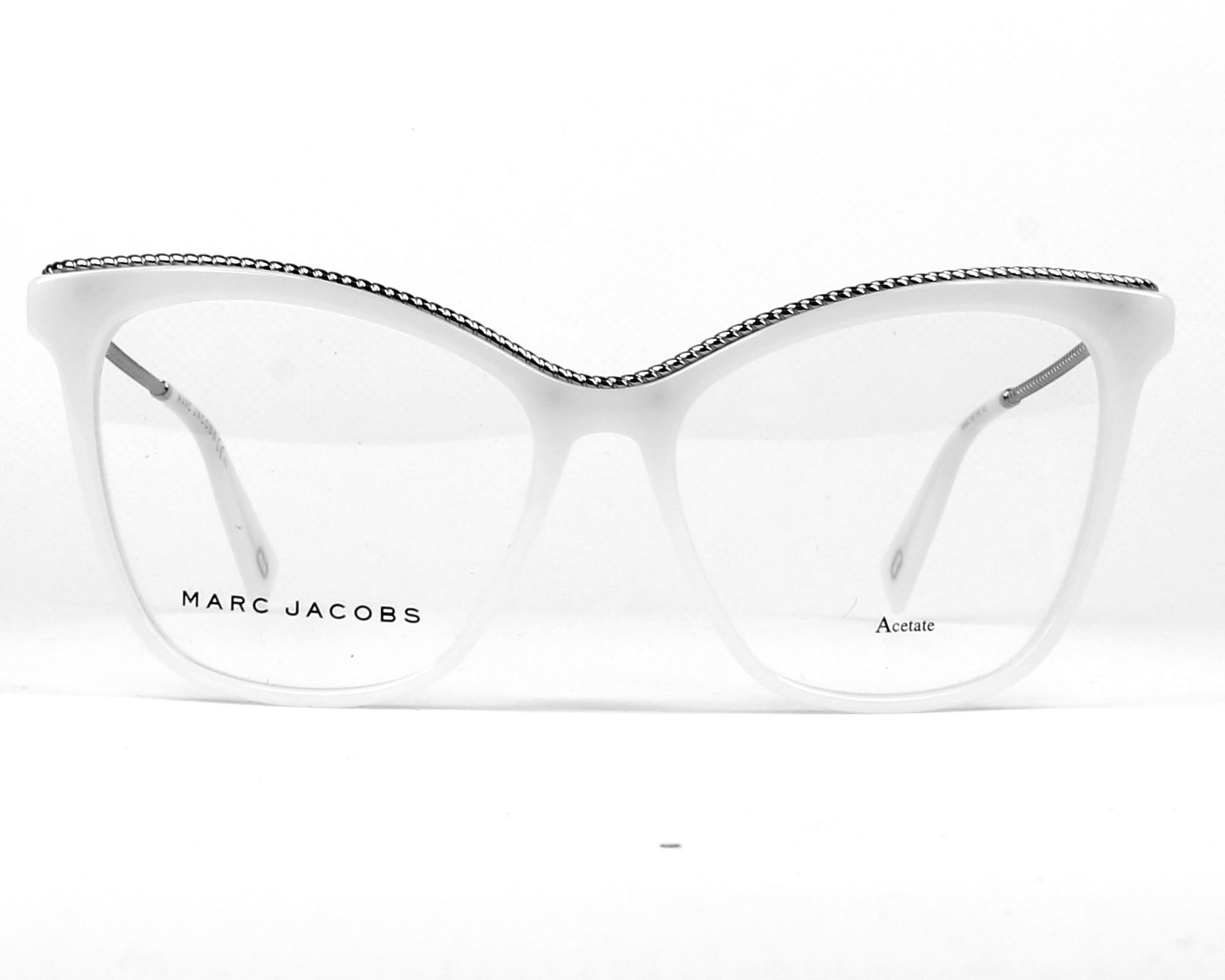 fdadeabf92 eyeglasses Marc Jacobs MARC-166 VK6 54-16 White Silver front view
