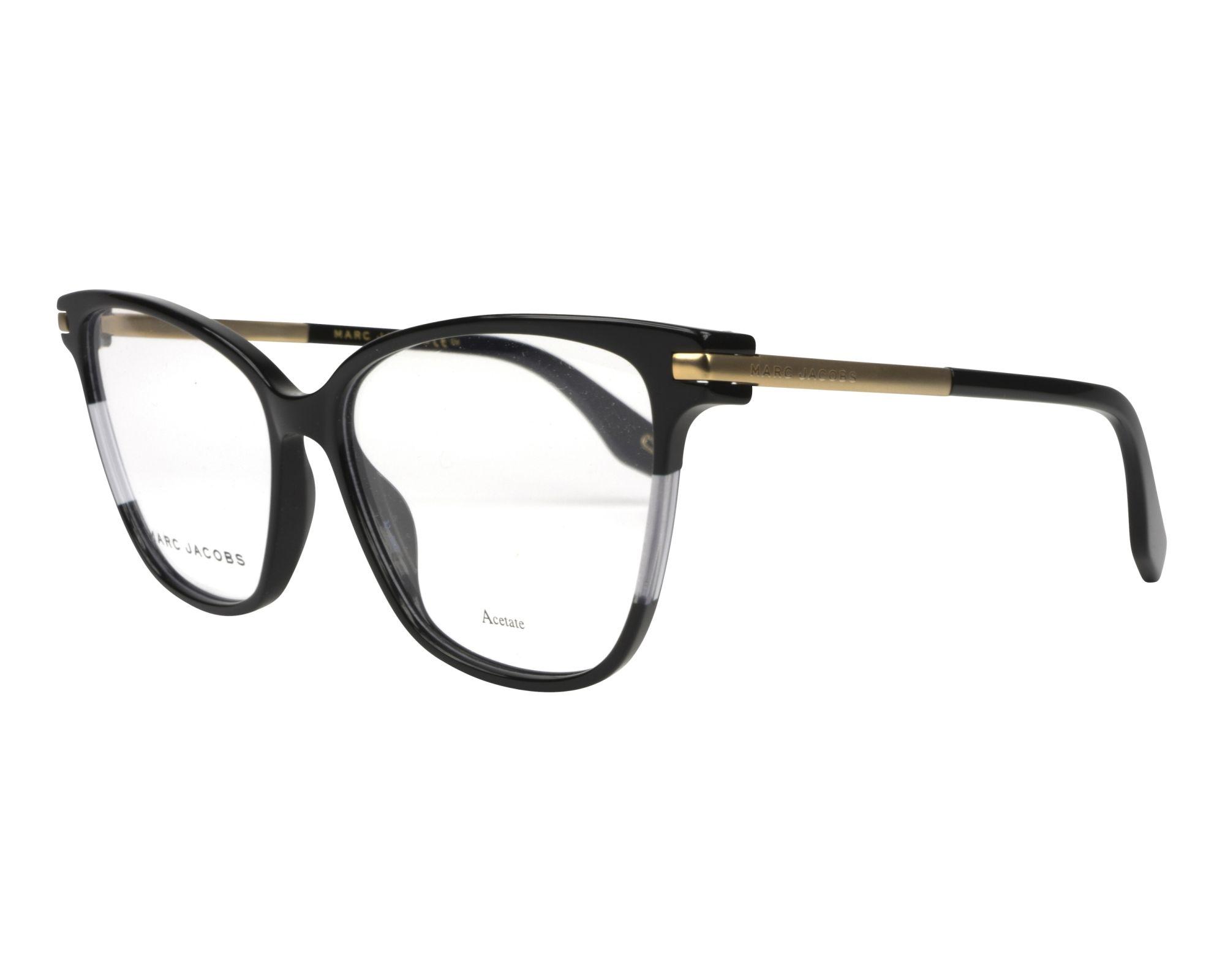a45738c6a02a eyeglasses Marc Jacobs MARC-299 807 55-15 Black Gold profile view