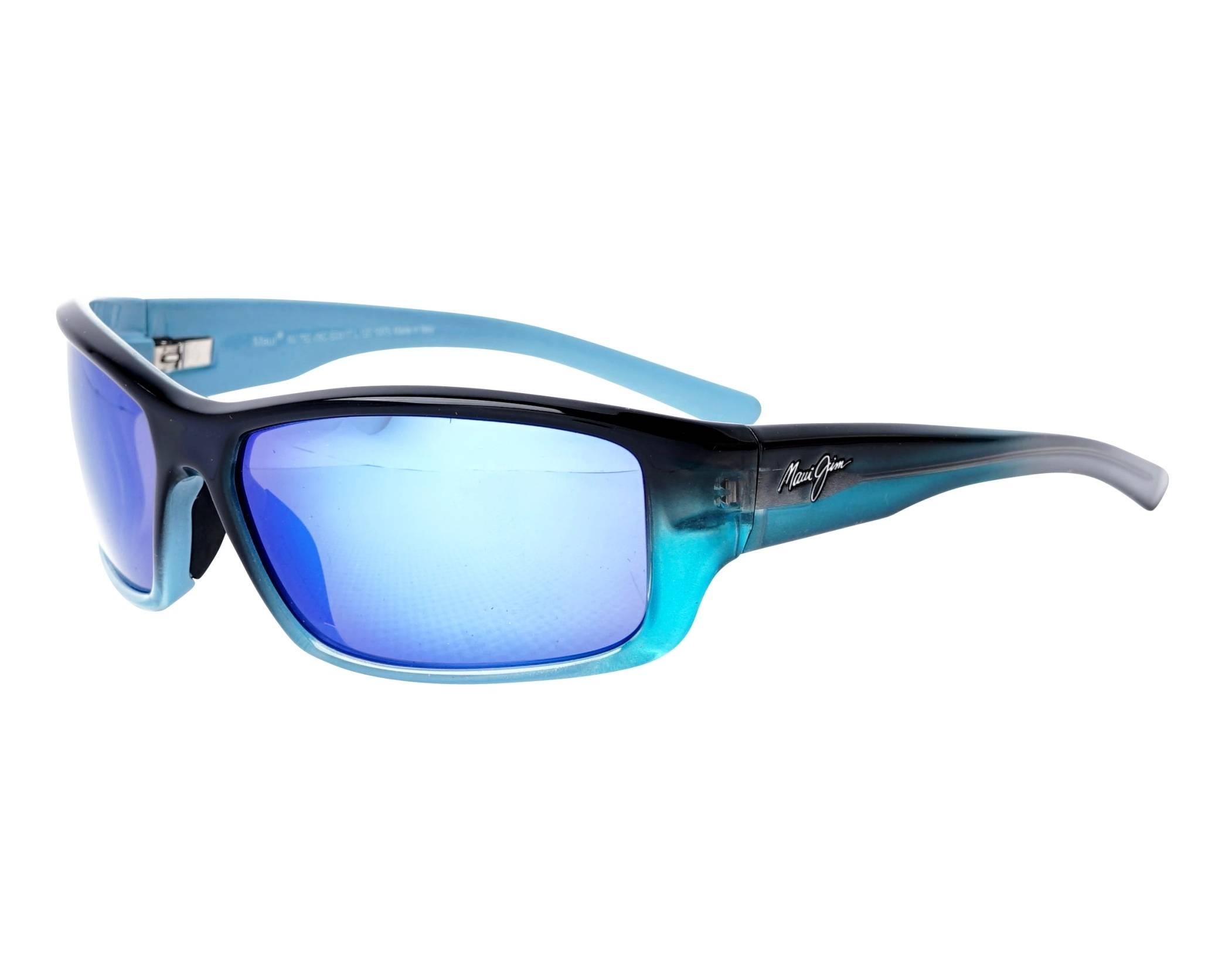 a2506b8fa42 Sunglasses Maui Jim BARRIER REEF B-792-06C 62-17 Blue Turquoise profile
