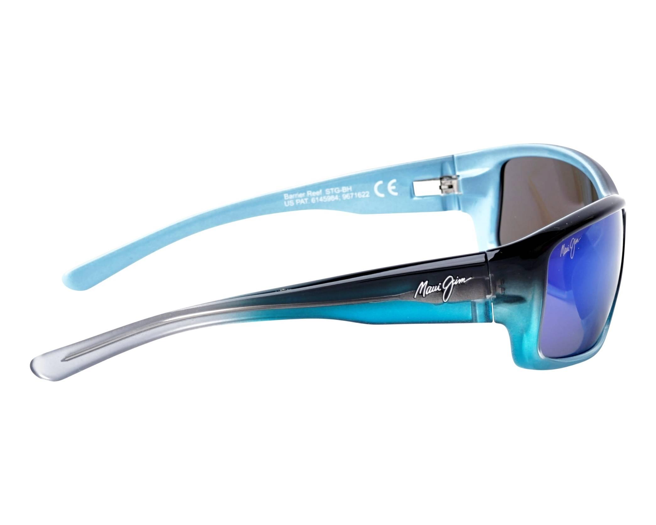a854750c7fb Sunglasses Maui Jim BARRIER REEF B-792-06C 62-17 Blue Turquoise side