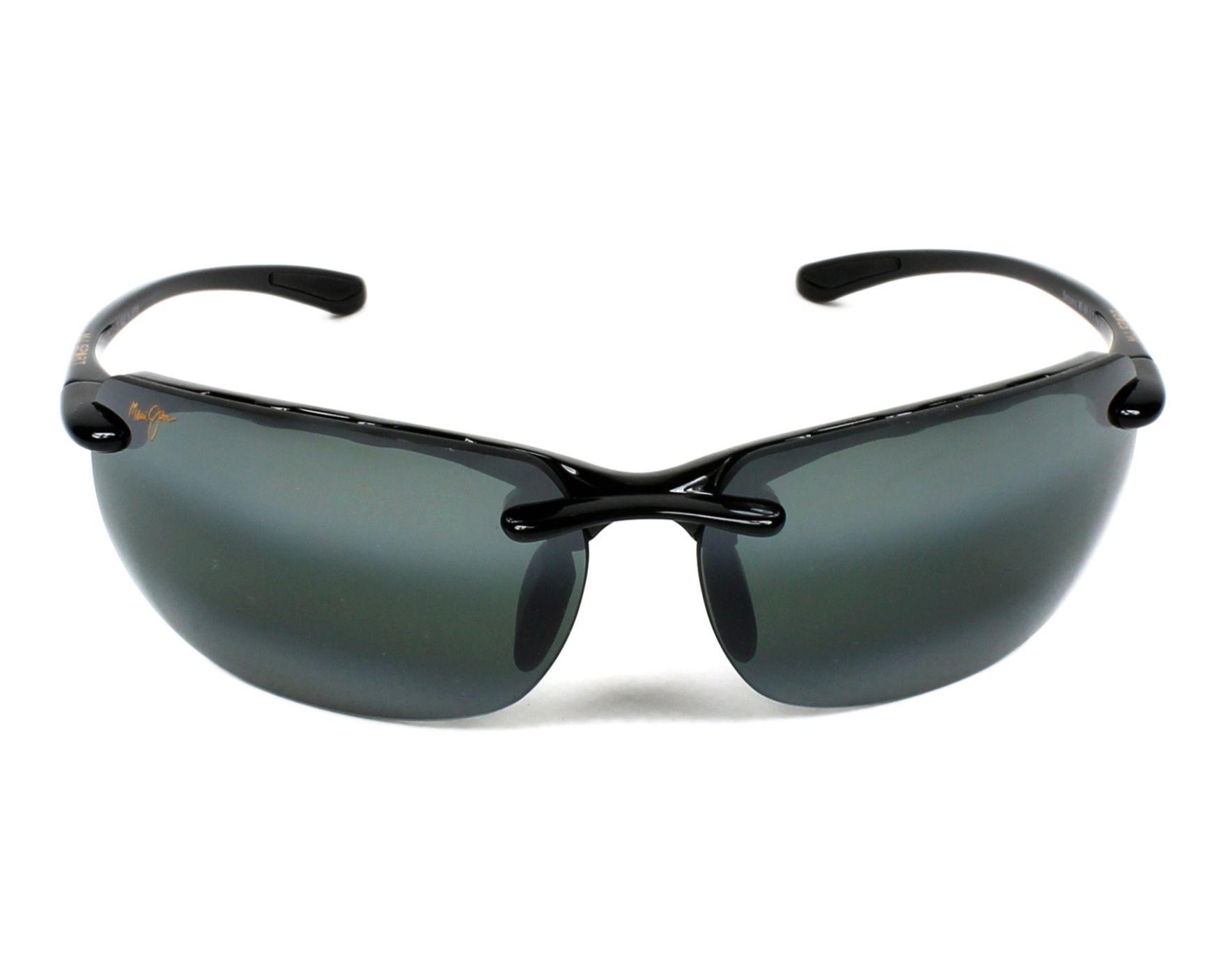 636683d2eb09d Sunglasses Maui Jim 412 02 70-17 Black front view