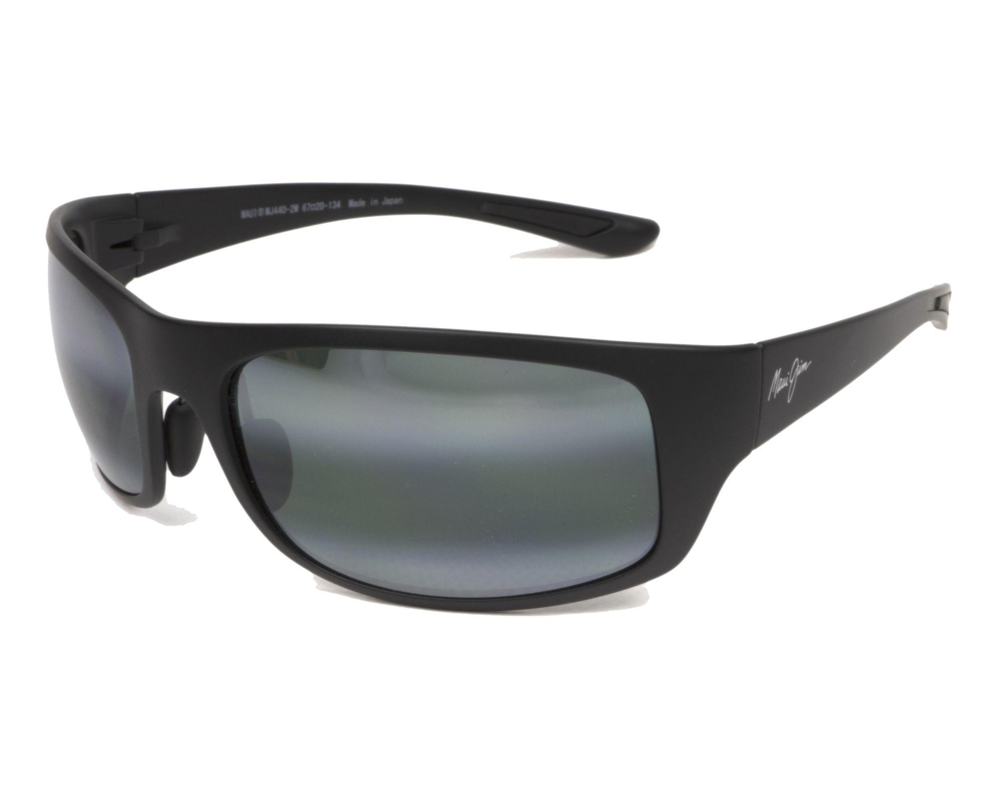ee0b986ad44 Polarized. Sunglasses Maui Jim 440 2M 67-20 Black profile view