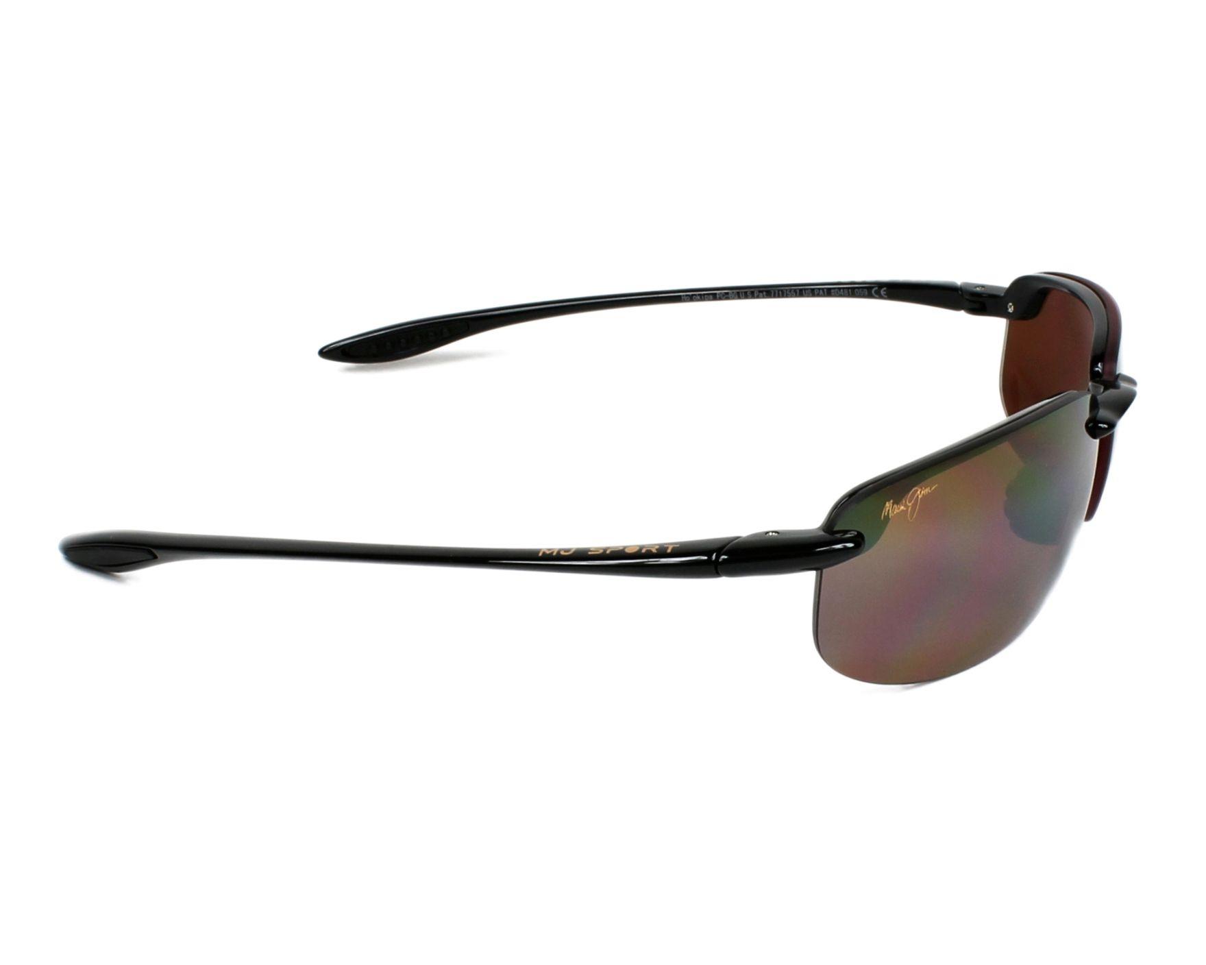 Sunglasses Maui Jim H-407 02 64-17 Black side view f6391f9ac554