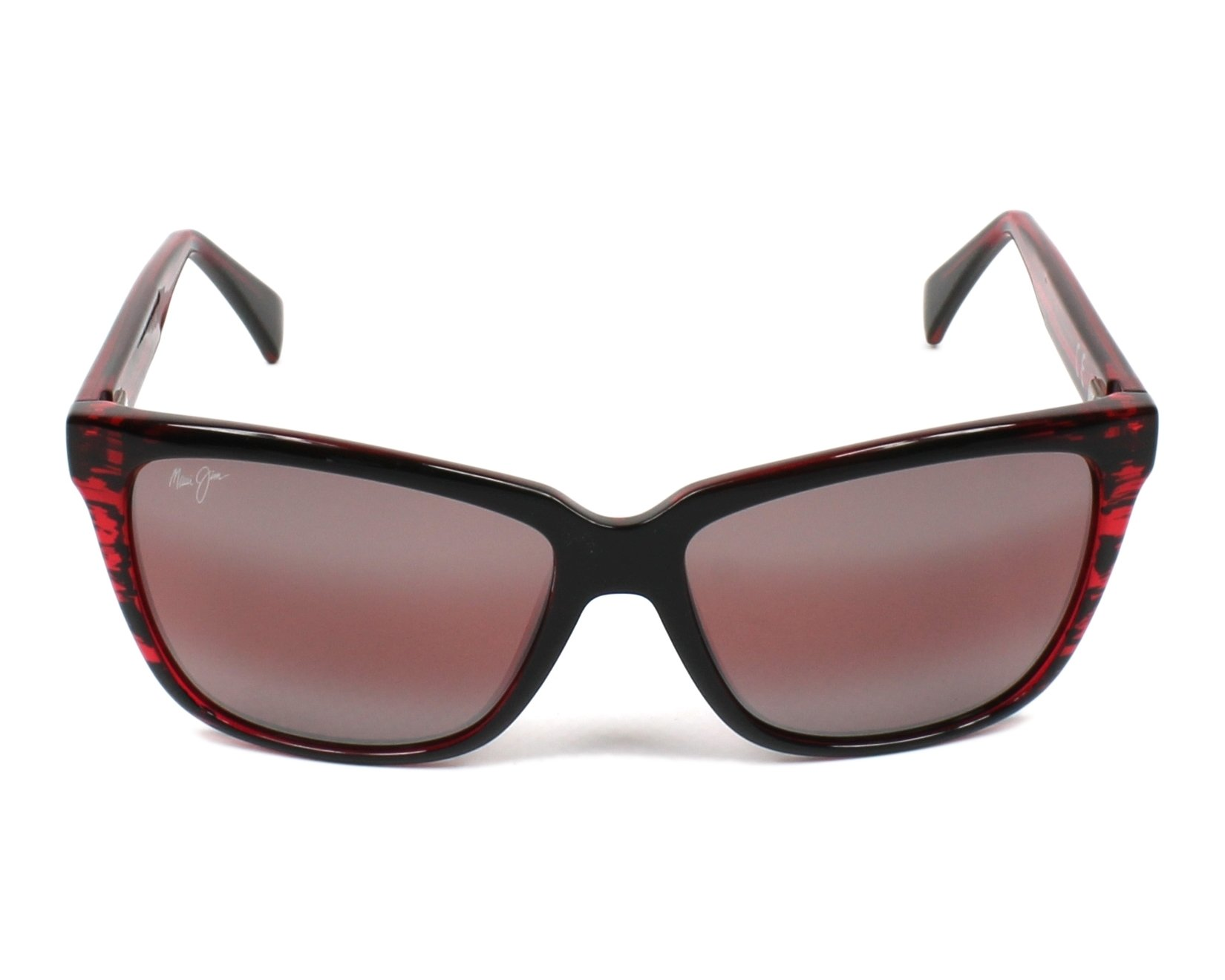 bcd283a63d Sunglasses Maui Jim R-763 07C 56-16 Red Red front view