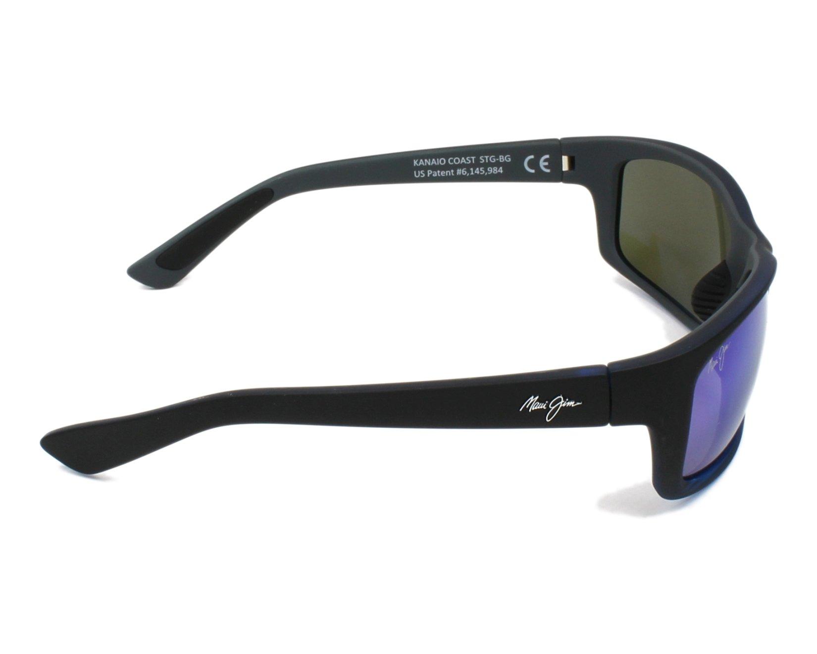 a85d0e3e41 Sunglasses Maui Jim B-766 08C 61-17 Black side view