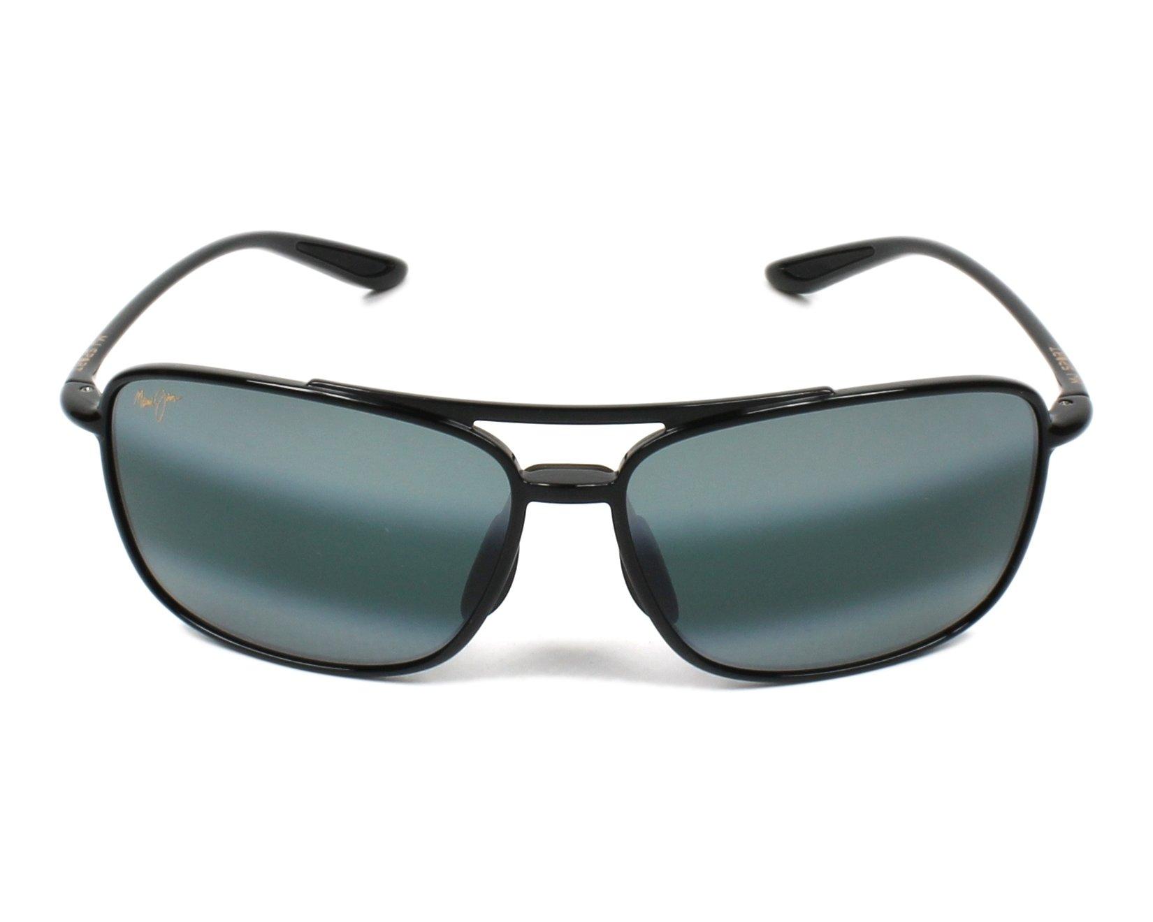0380fb5cc755 Sunglasses Maui Jim 437 02 61-15 Black front view