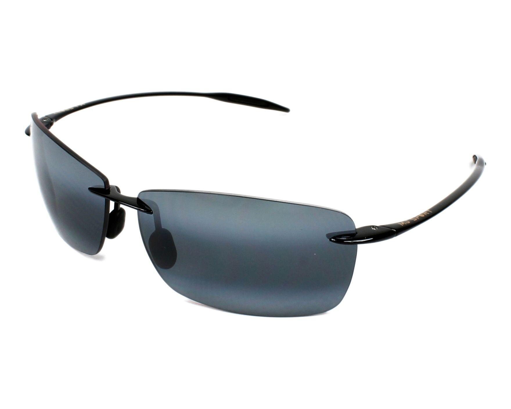2f8724ebd7a Sunglasses Maui Jim 423 02 67-13 Black profile view