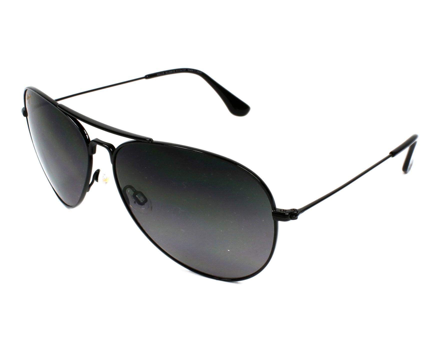 78bb5a5d7c Polarized. Sunglasses Maui Jim GS-264 02 - Black profile view