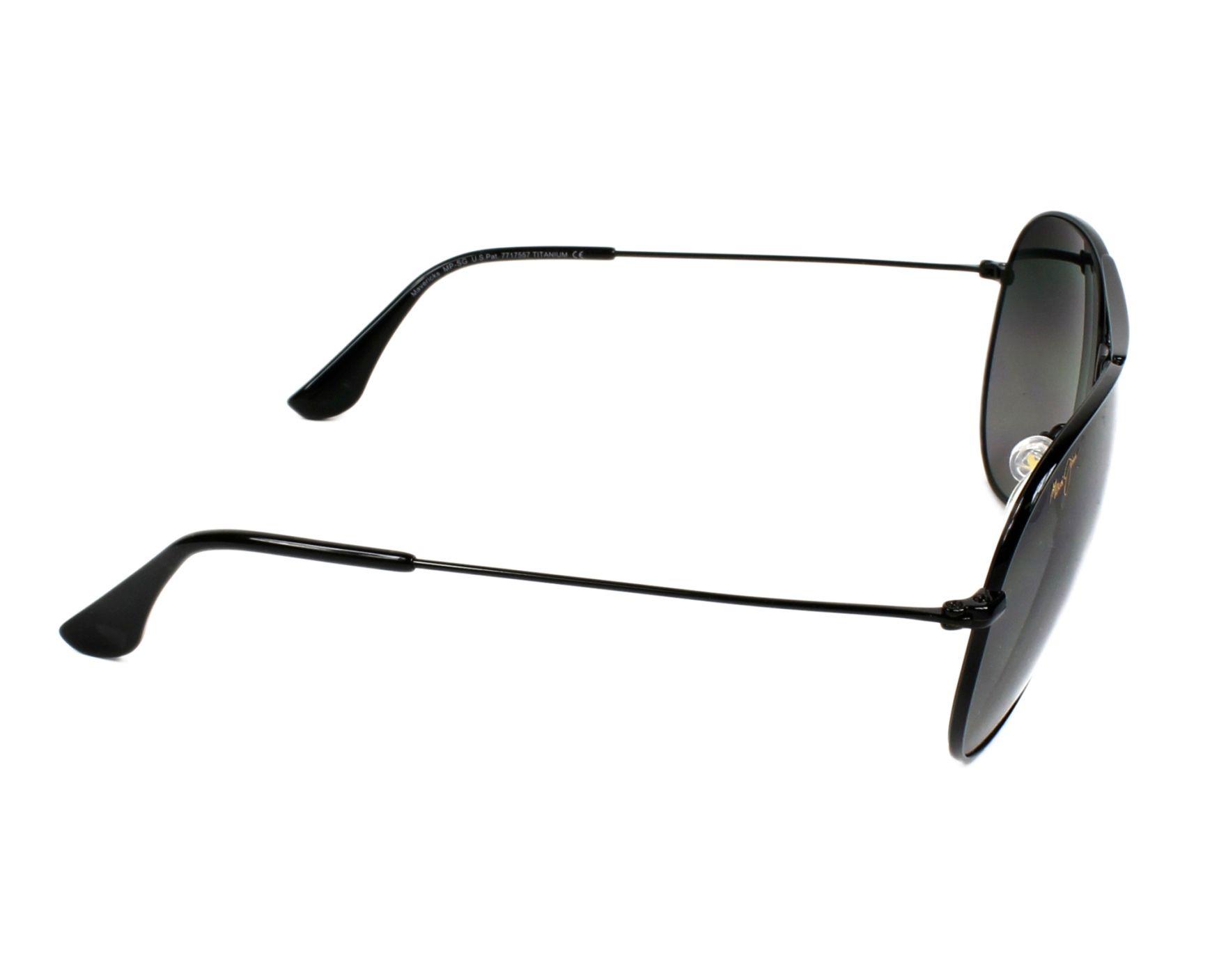 f39001a217 Sunglasses Maui Jim GS-264 02 - Black side view