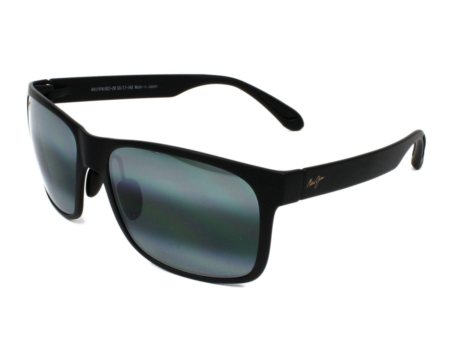 1cfb14d3db3cbd Polarized. Sunglasses Maui Jim 432 2M 59-17 Black profile view