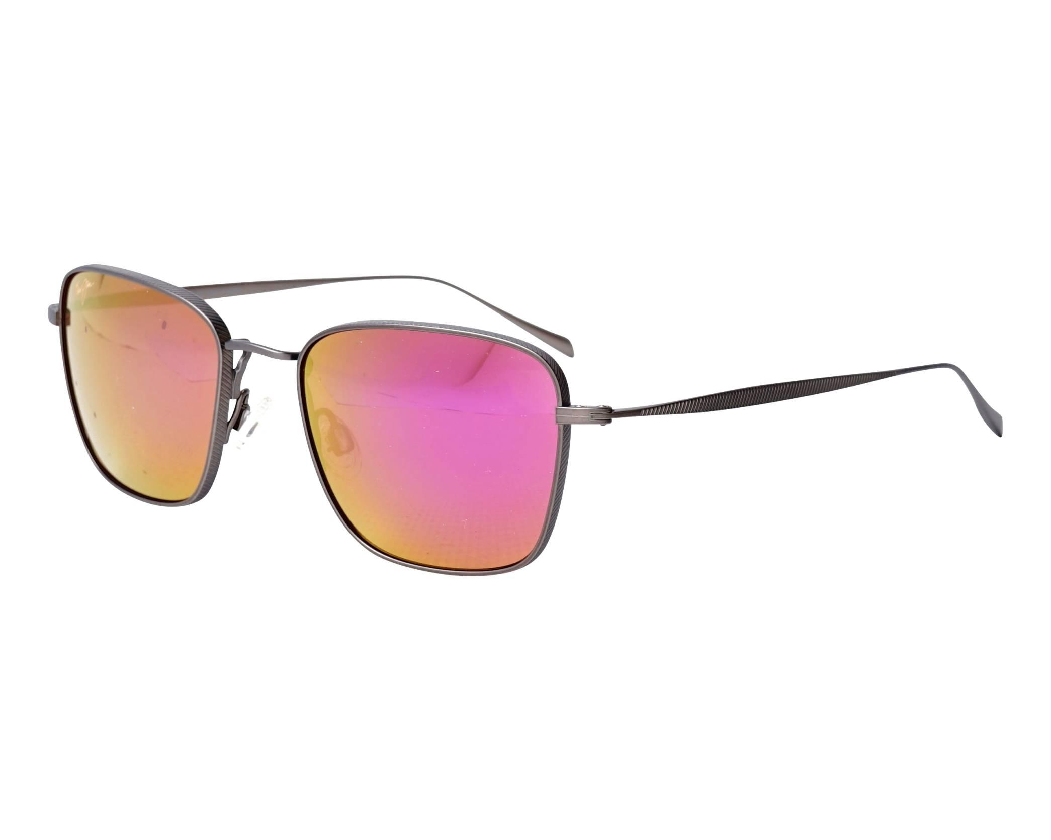 10333bbf26f43 Sunglasses Maui Jim SPINNAKER P-545-14 54-19 Ruthenium profile view