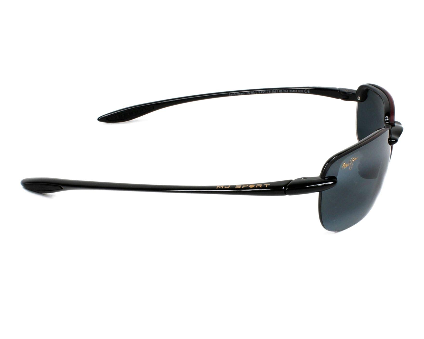 12085b23a05f Sunglasses Maui Jim 408 02 56-15 Black side view