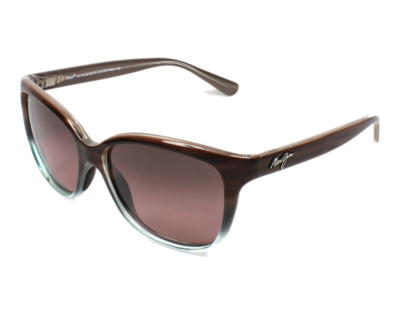 43b878d6a2b Sunglasses Maui Jim RS-744 22B - Brown Turquoise profile view
