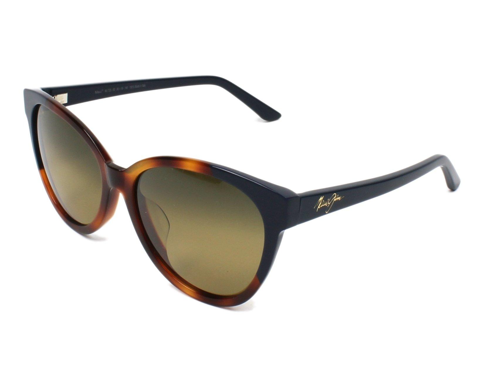 3a68b3d731bdc Polarized. Sunglasses Maui Jim HS-725 65 - Havana Blue profile view
