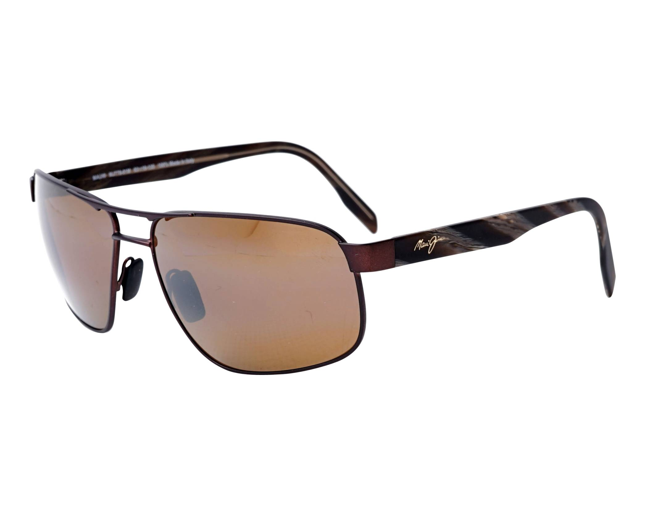 b88f9a3abf Sunglasses Maui Jim WHITEHAVEN H-776-01M 63-16 Brass Brown profile view
