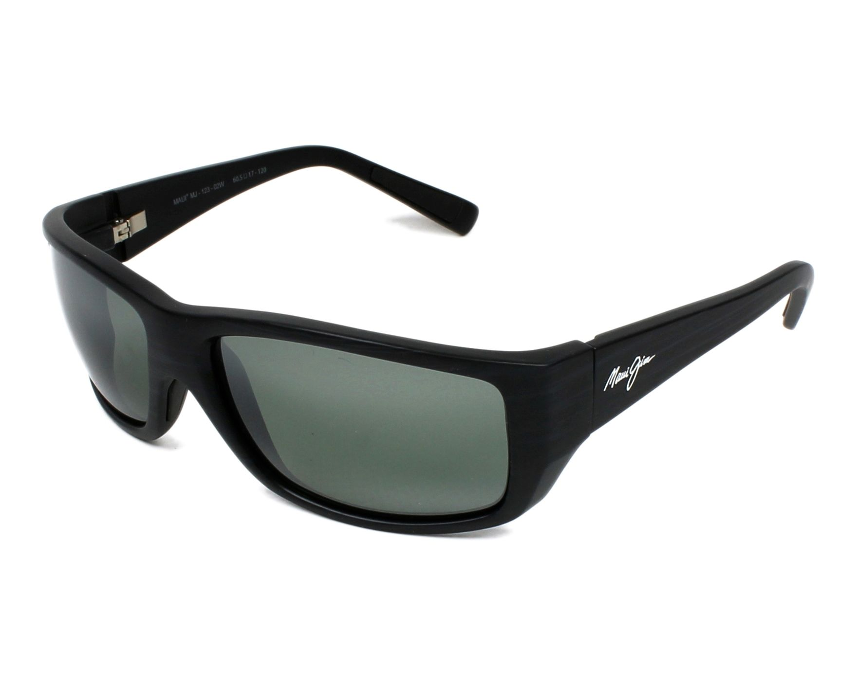 2c6cf6d7e72b0 Sunglasses Maui Jim 123 02W 60-17 Black profile view
