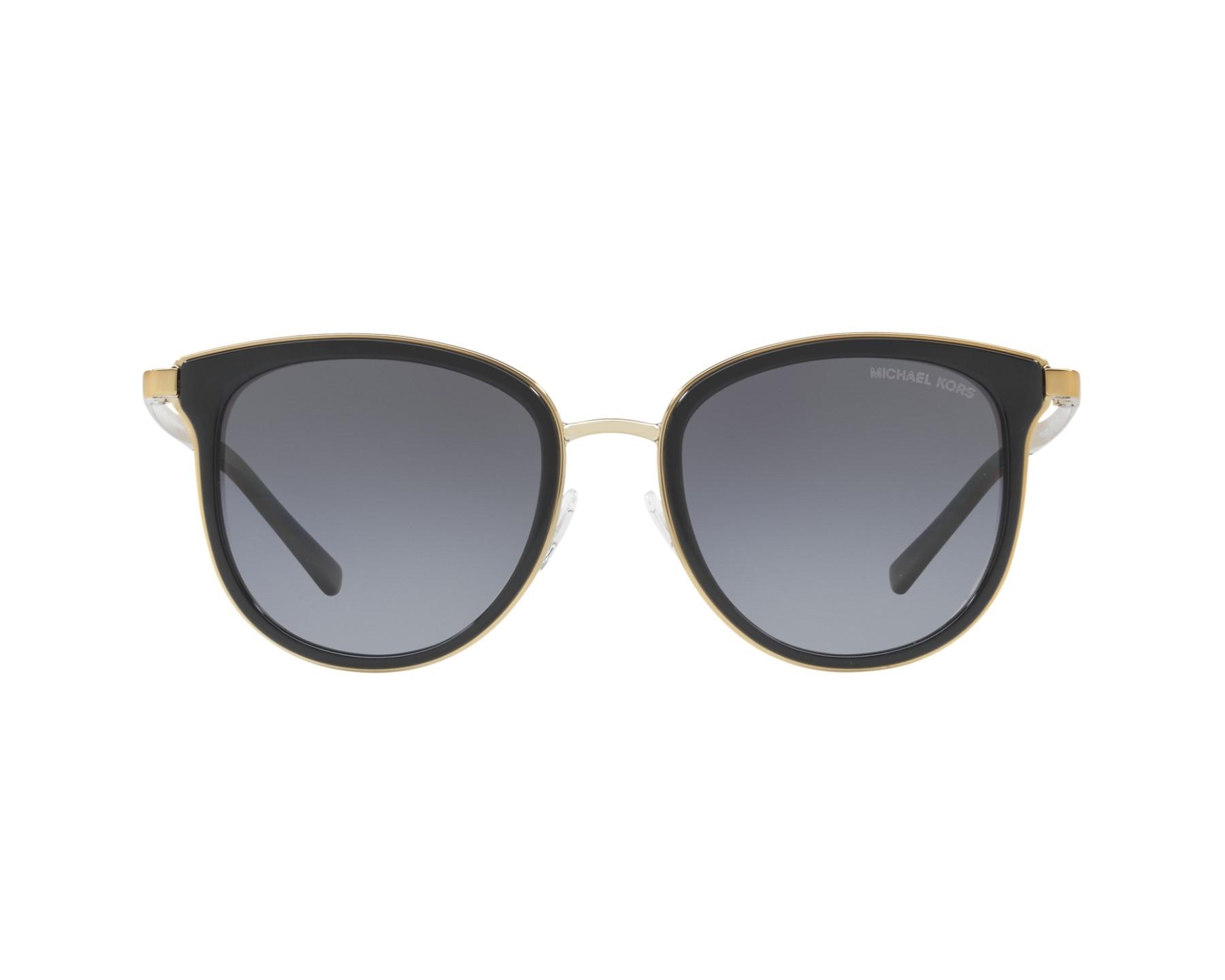 9b1bb7dc40c4 Sunglasses Michael Kors MK-1010 1100T3 54-20 Black Gold 360 degree view 1