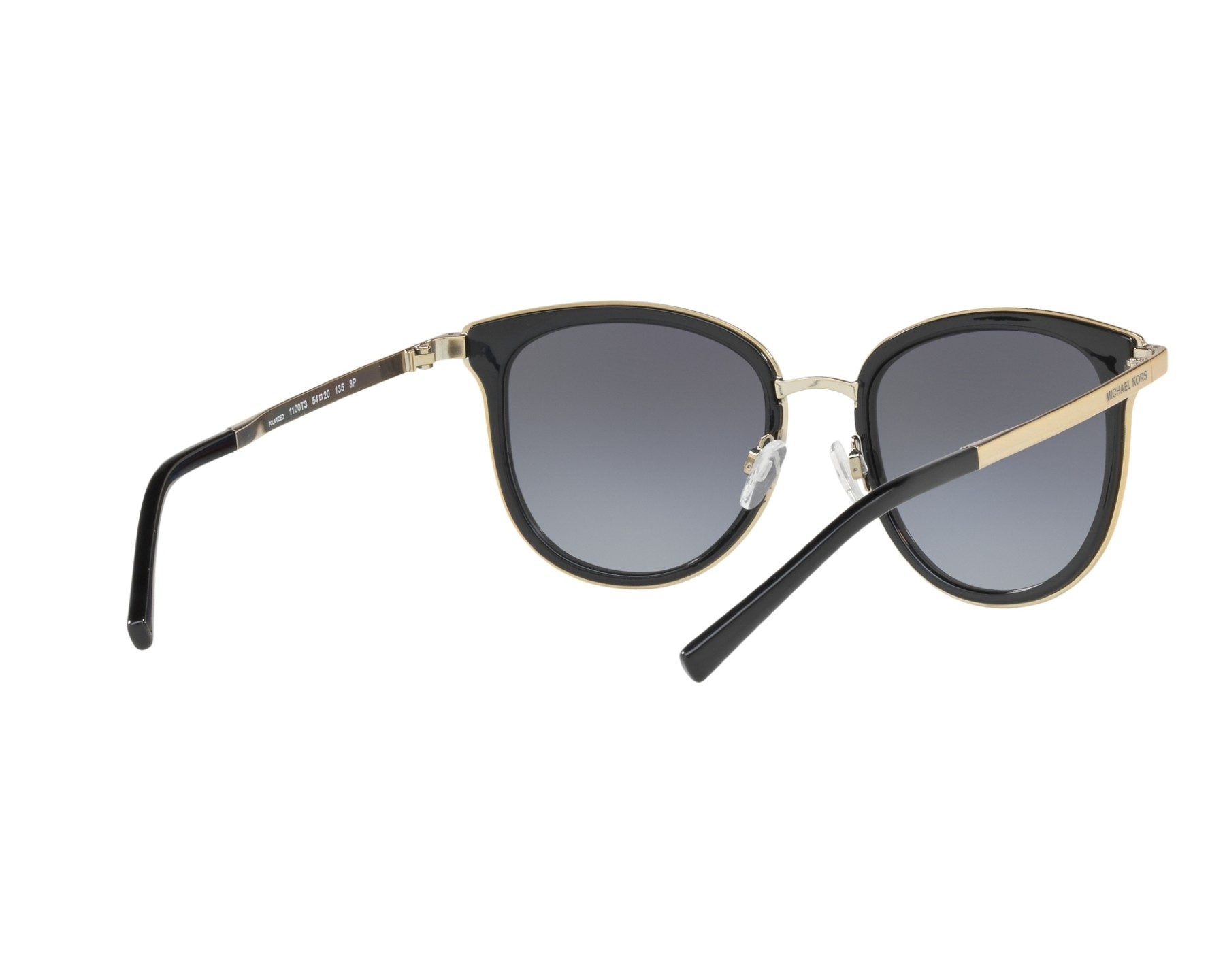 76a2236b65d54 Sunglasses Michael Kors MK-1010 1100T3 54-20 Black Gold 360 degree view 8
