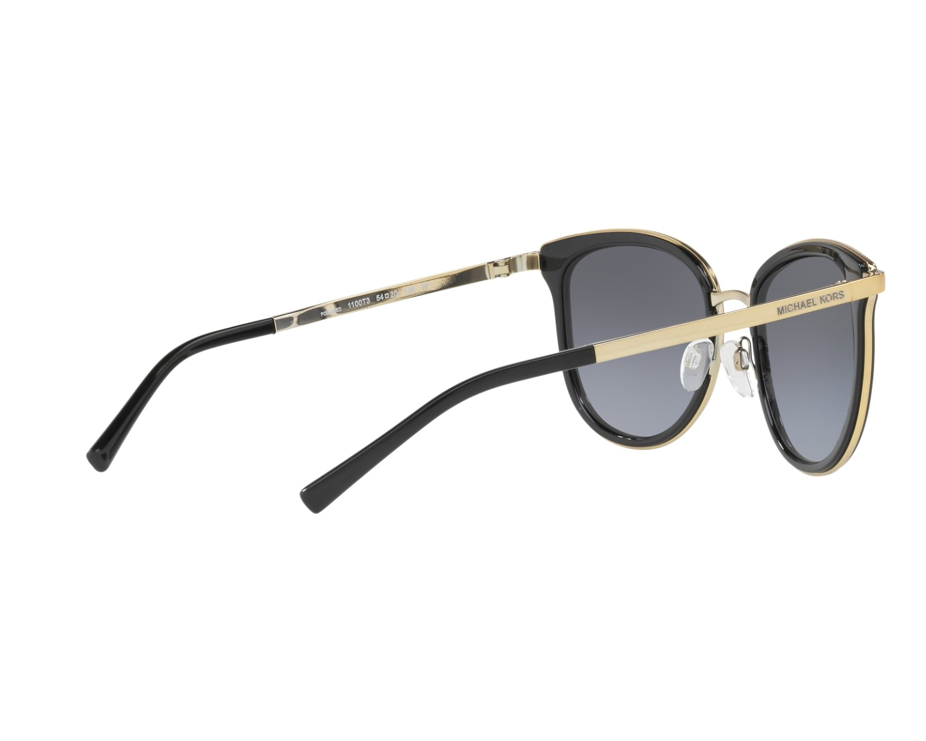 9a1ace97b6fd9 Sunglasses Michael Kors MK-1010 1100T3 54-20 Black Gold 360 degree view 9