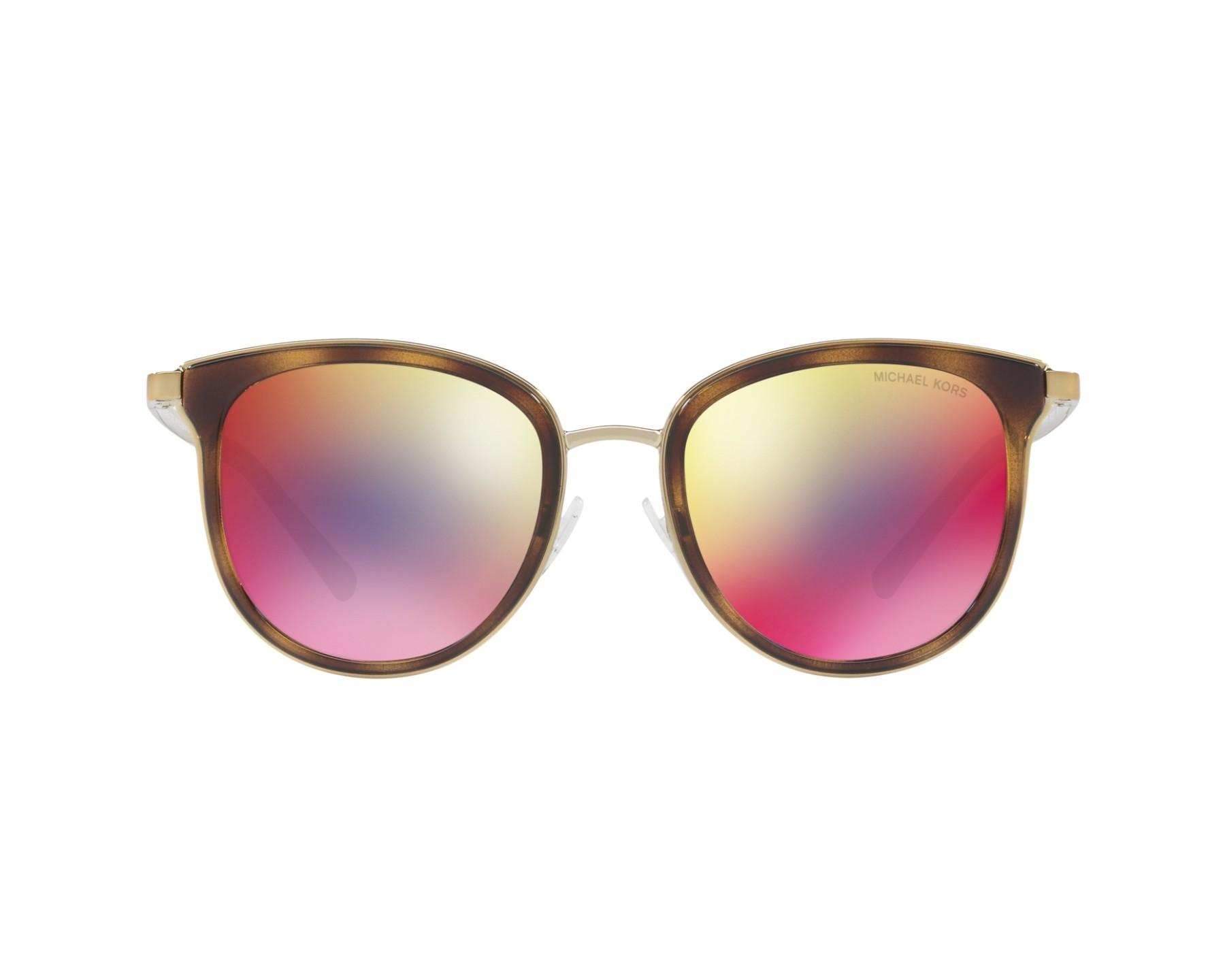 c2755a23143f Sunglasses Michael Kors MK-1010 11016P 54-20 Havana Gold 360 degree view 1