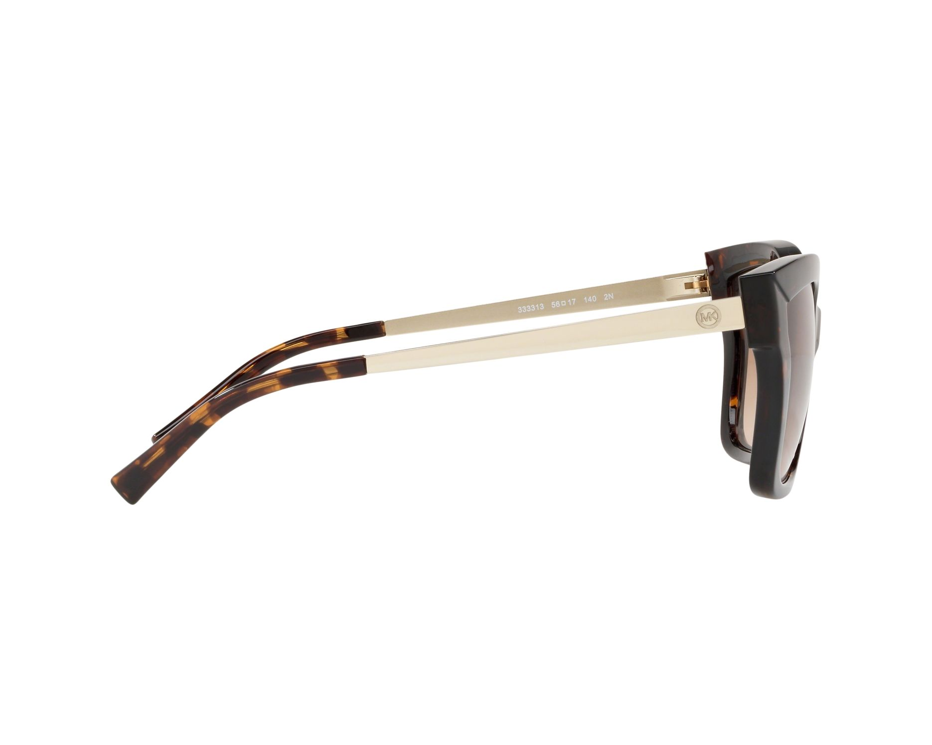 178e17d5e1 Sunglasses Michael Kors MK-2072 333313 56-17 Havana Gold 360 degree view 10