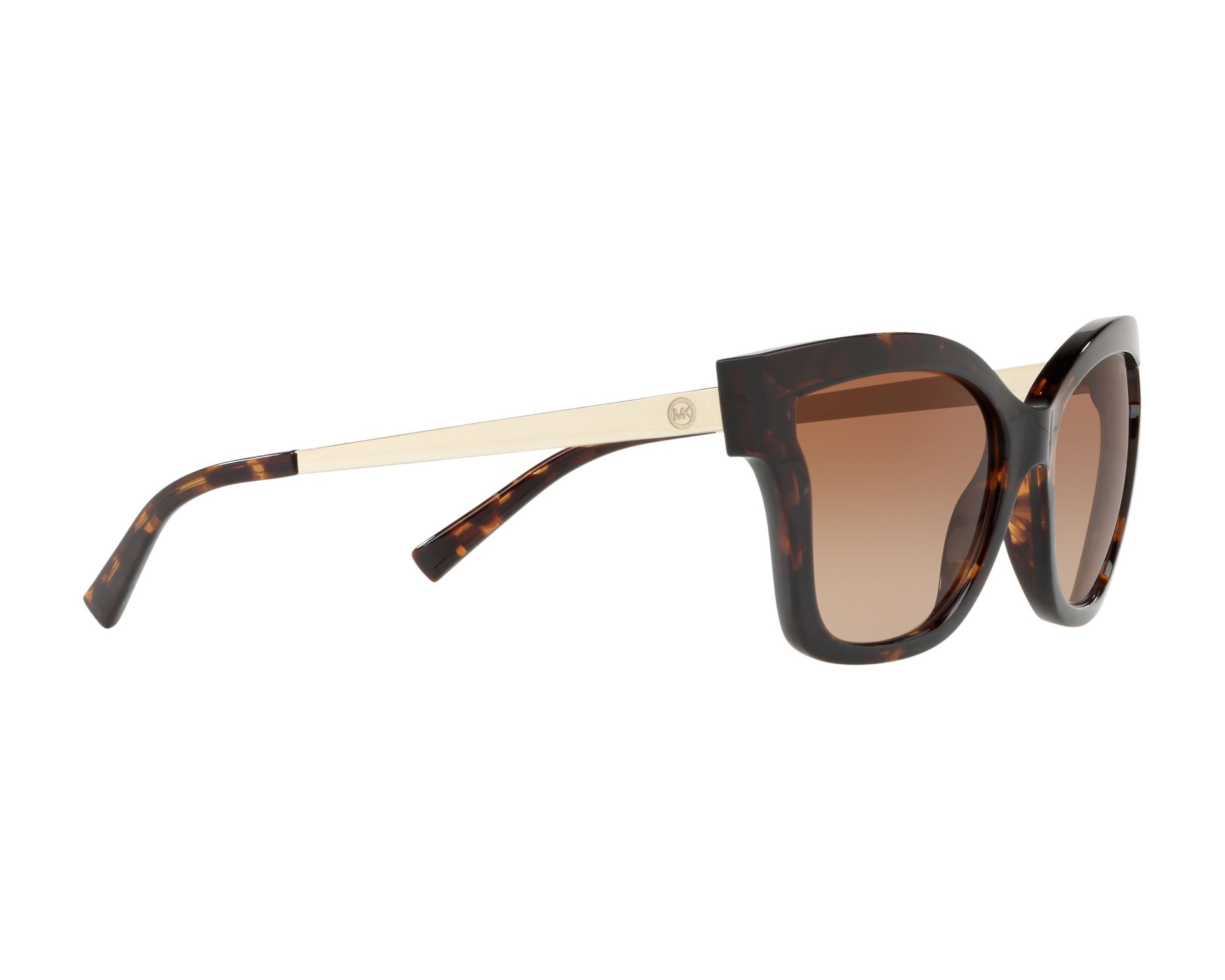 ddf6b6aed2 Sunglasses Michael Kors MK-2072 333313 56-17 Havana Gold 360 degree view 11