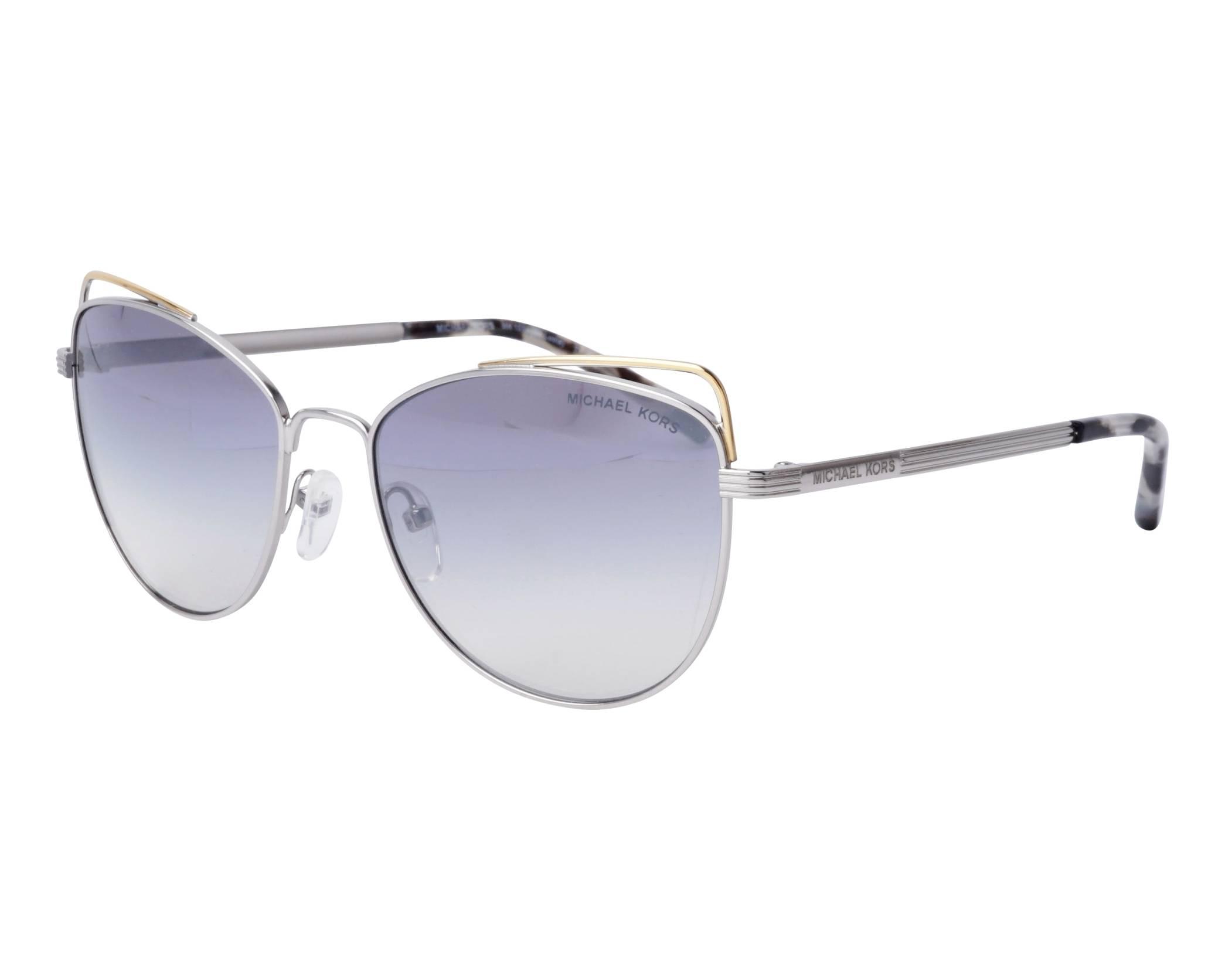 8cf45ba0ff Sunglasses Michael Kors MK-1035 11537B 55-17 Silver Gold profile view