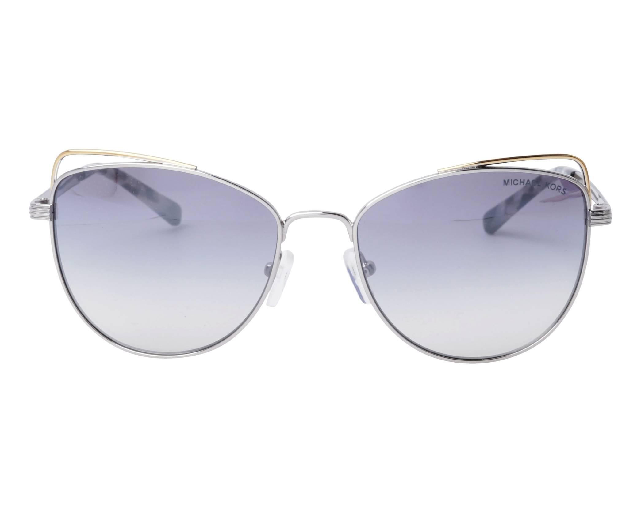 b3c07ec5c1 Sunglasses Michael Kors MK-1035 11537B 55-17 Silver Gold front view