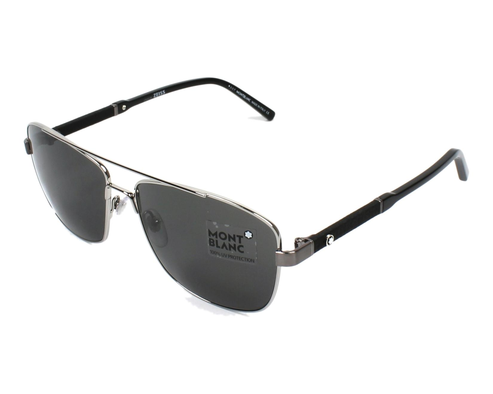 e726d937ea Sunglasses Mont Blanc MB-589-S 14A - Gun Black profile view