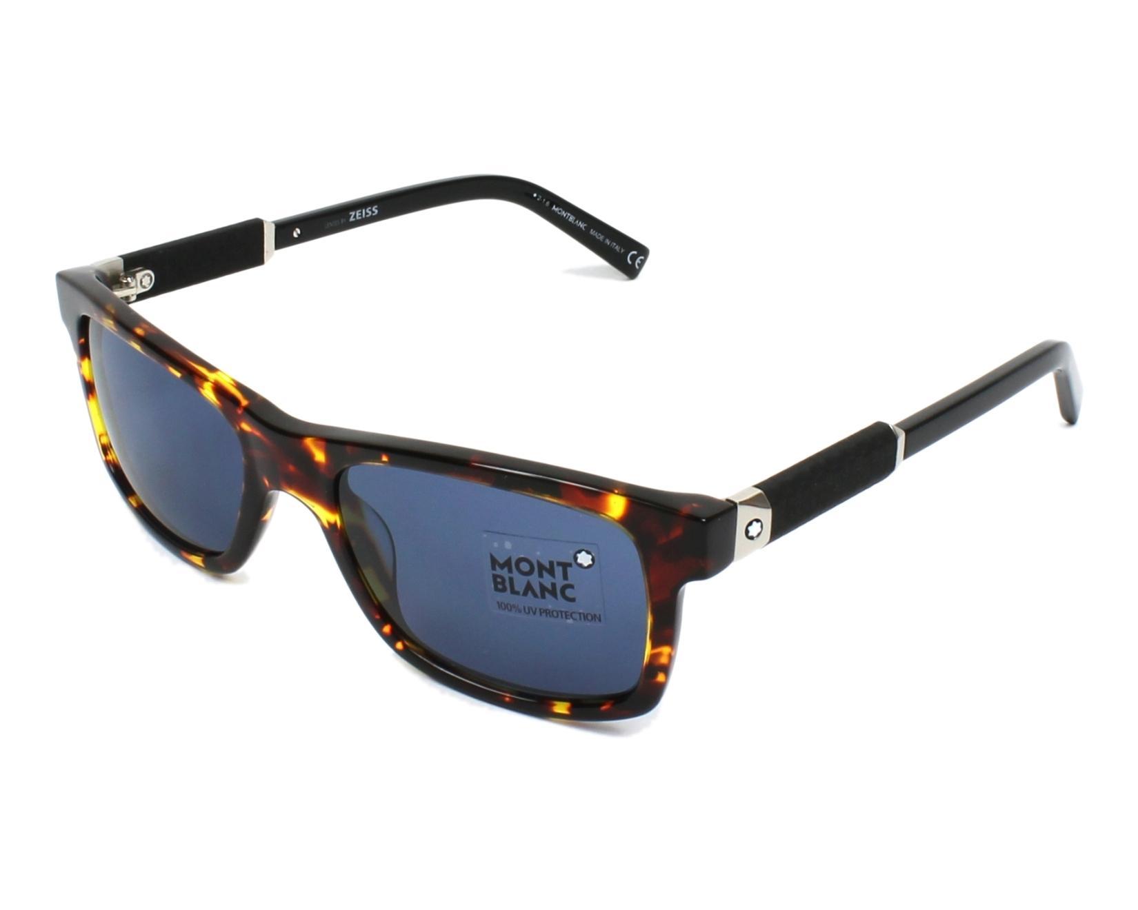 e047b7e72da Sunglasses Mont Blanc MB-646-S 55V 54-19 Havana Havana profile view