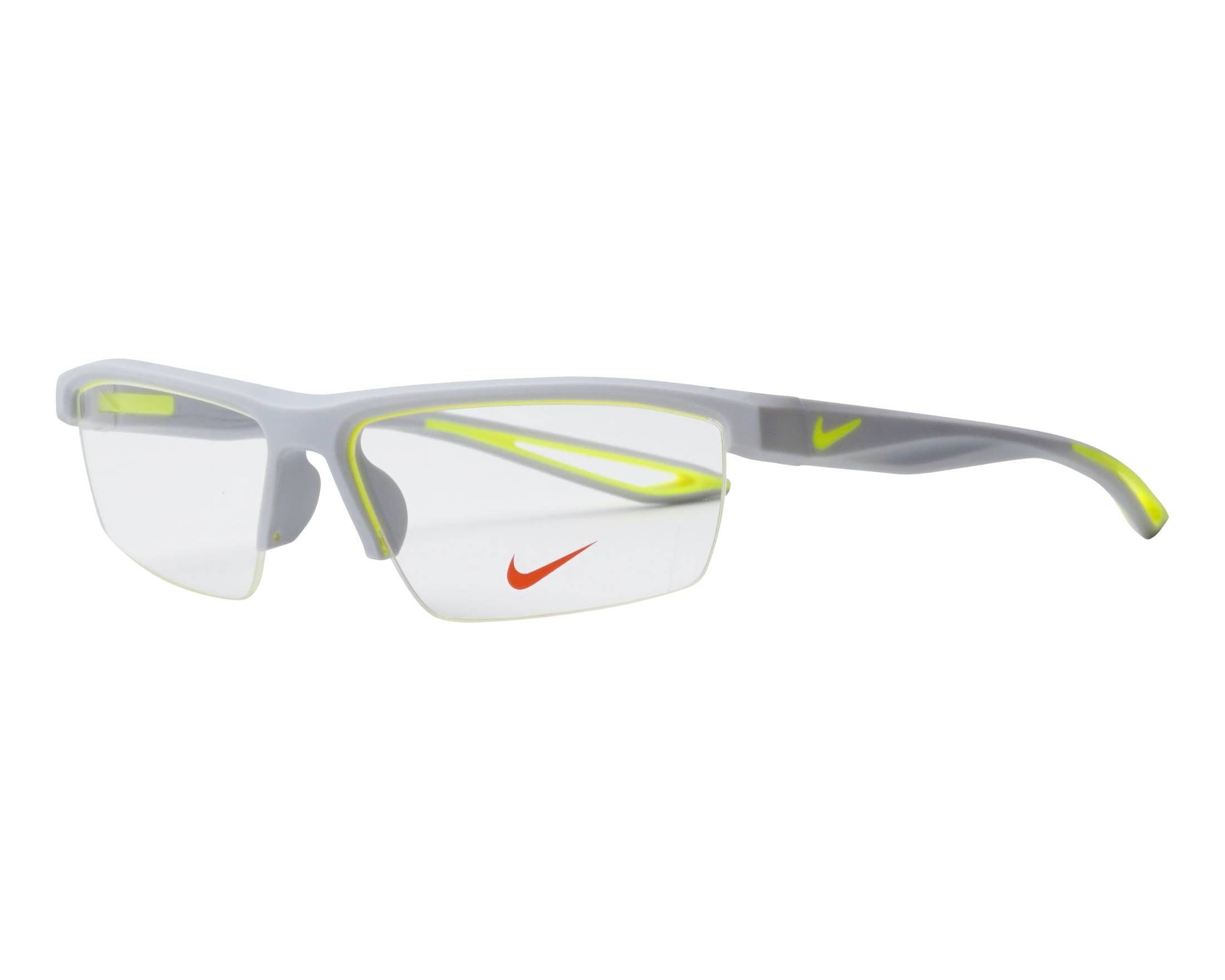 f6678d1fcfe2 eyeglasses Nike 7079 040 57-15 Grey Yellow profile view