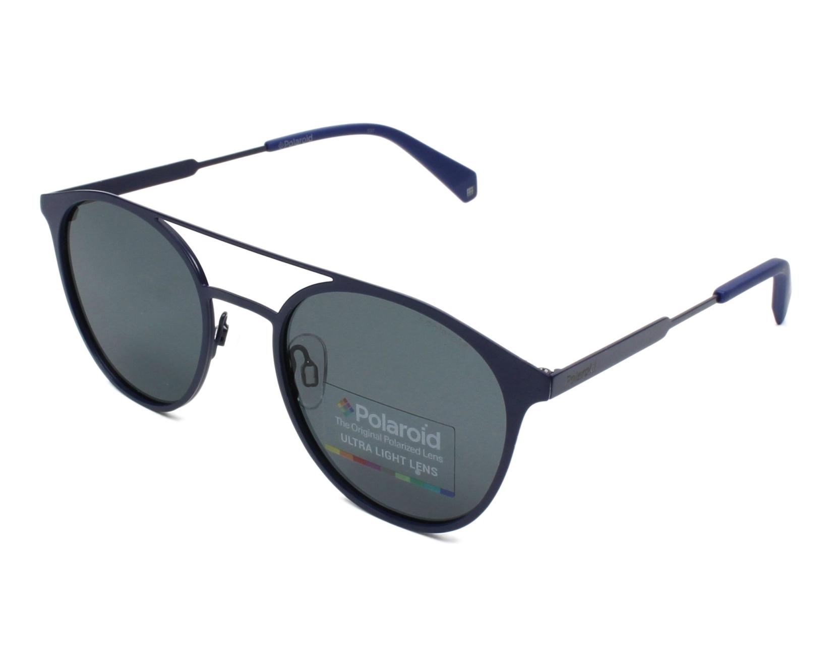 fe9e0178c636a thumbnail Sunglasses Polaroid PLD-2052-S PJP M9 - Blue profile view
