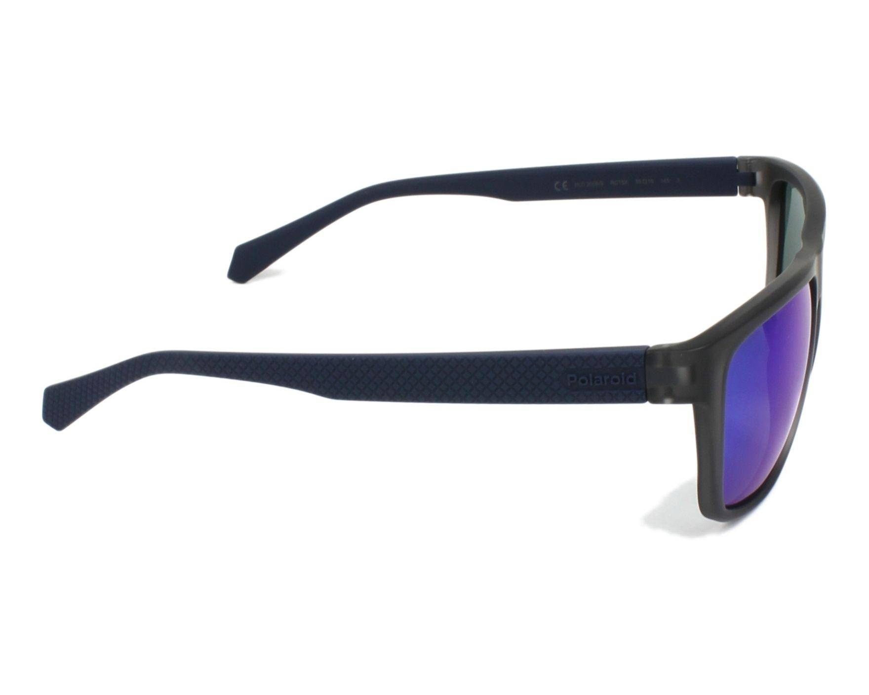 a82c20d0a5a9 Sunglasses Polaroid PLD-2058-S RCT/5X 55-16 Grey Blue side