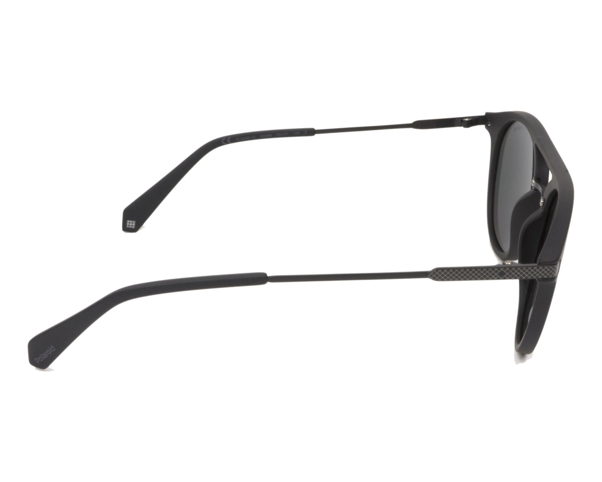 931830c1e thumbnail Sunglasses Polaroid PLD-2061-S 003/M9 - Black Black side view