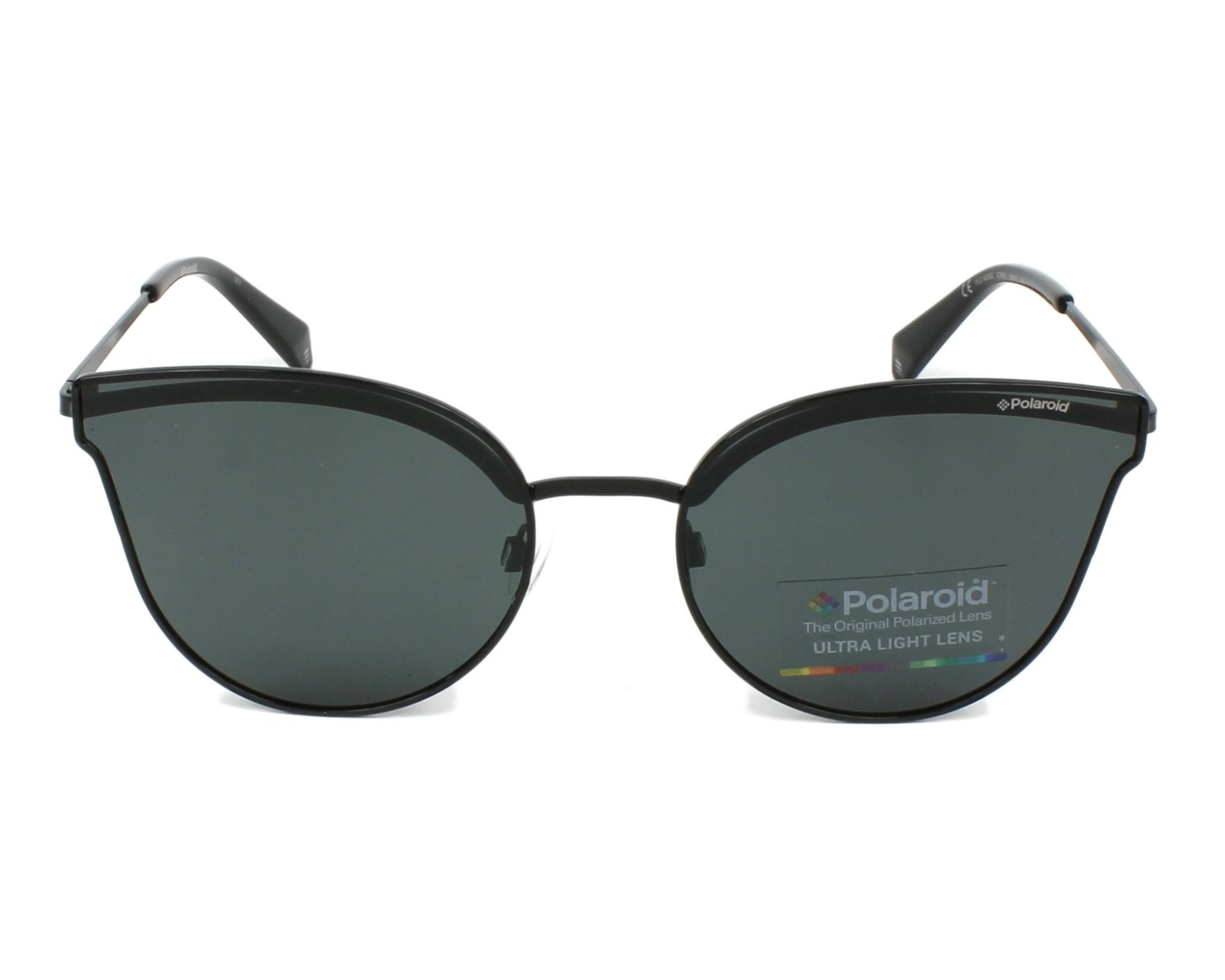 81e7608df3 thumbnail Sunglasses Polaroid PLD-4056-S 205 M9 - Black Black front view