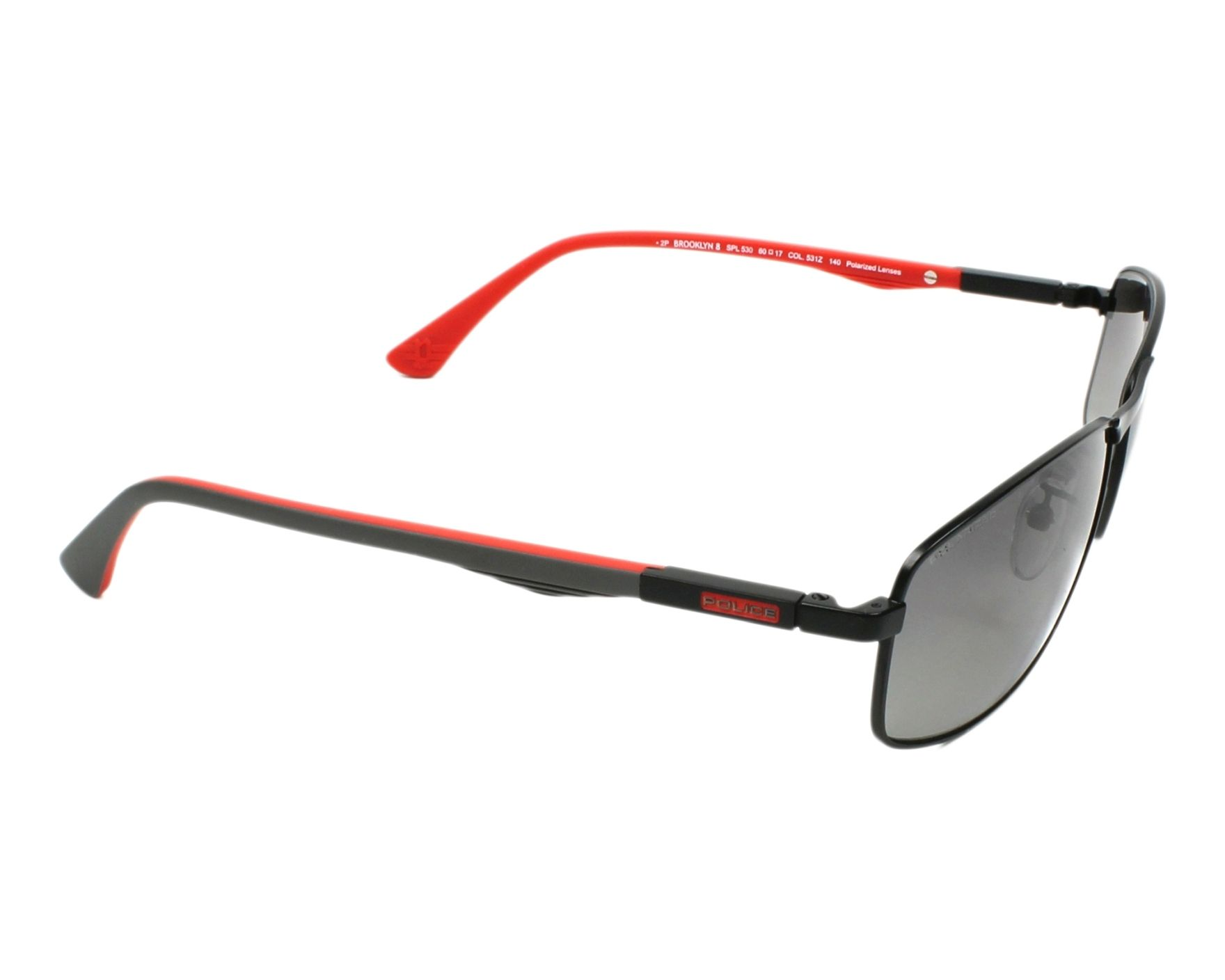 999577e944e Sunglasses Police SPL-530 531Z 60-17 Black Grey side view