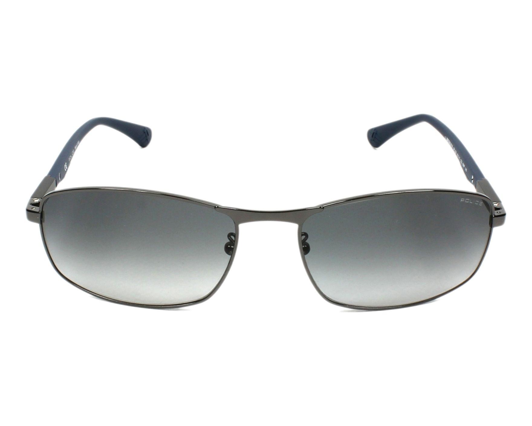 3eae97dd238 Sunglasses Police SPL-530 568F 60-17 Gun Blue front view