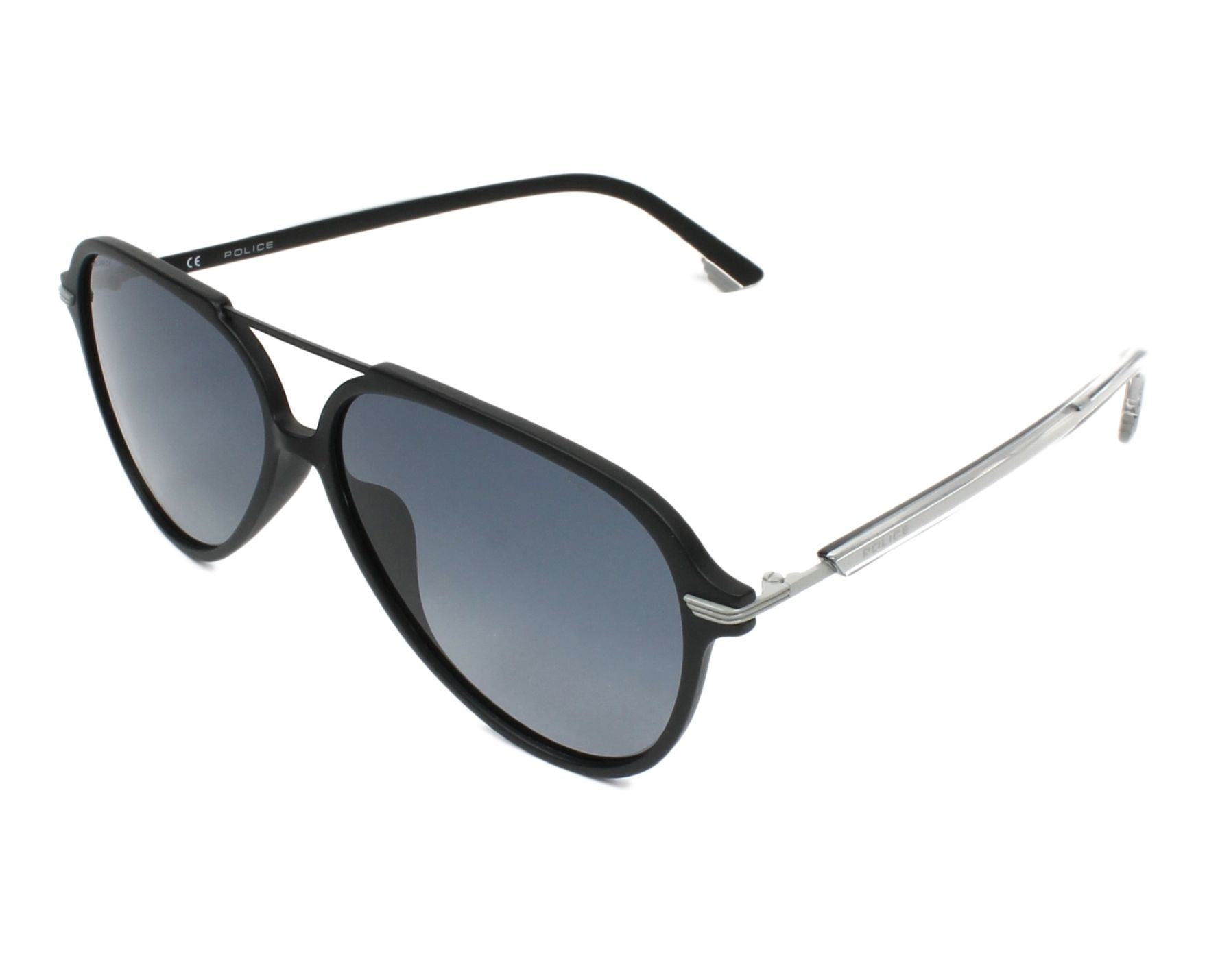 37c056eb1c3 Sunglasses Police SPL-582 U28Z 58-13 Black Grey profile view