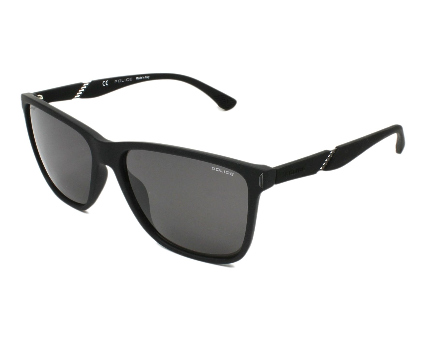 53cb4ed721 Sunglasses Police SPL-529 6AAP 58-16 Black profile view