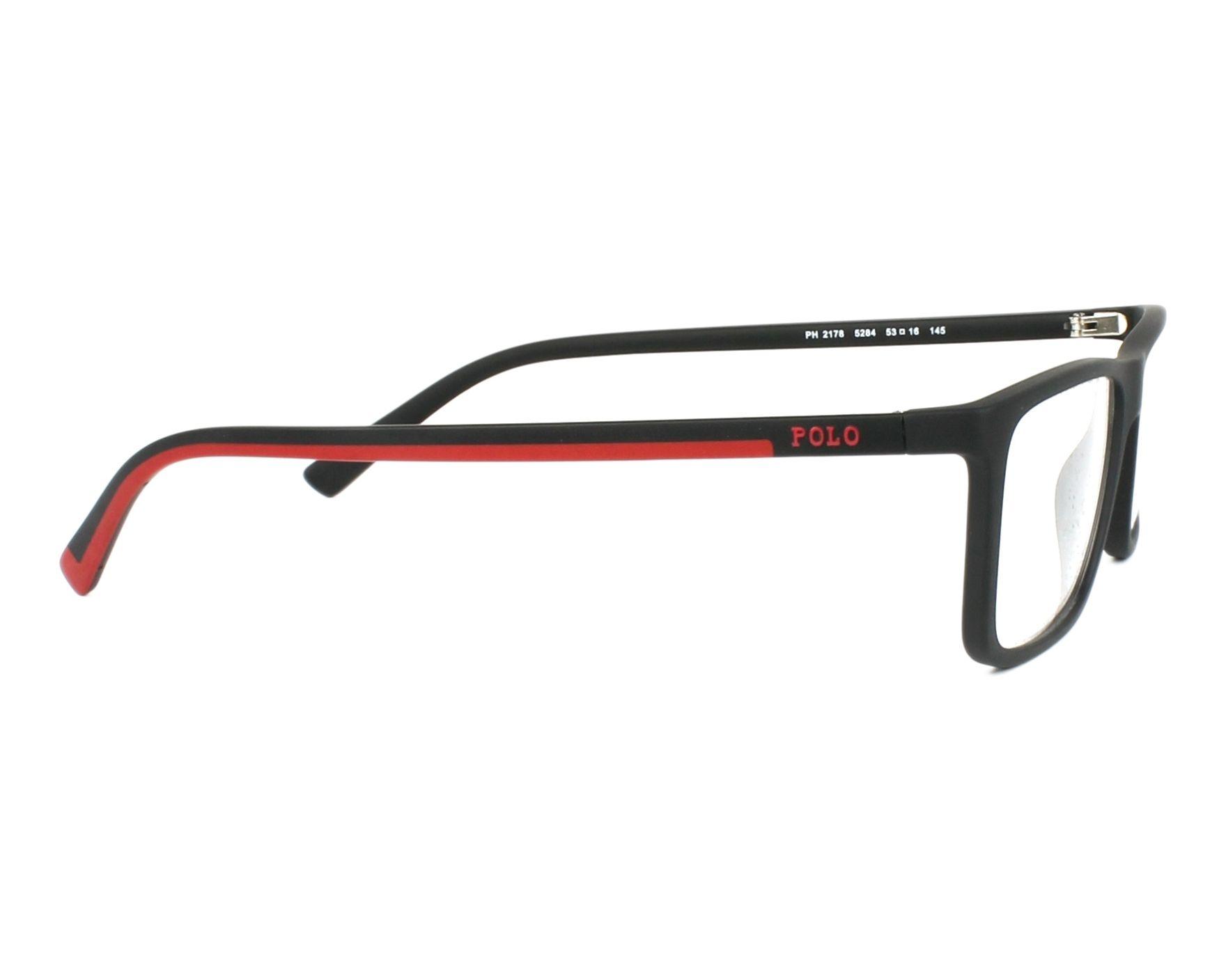 d9ae64fa024 eyeglasses Polo Ralph Lauren PH-2178 5284 53-16 Black Red side view