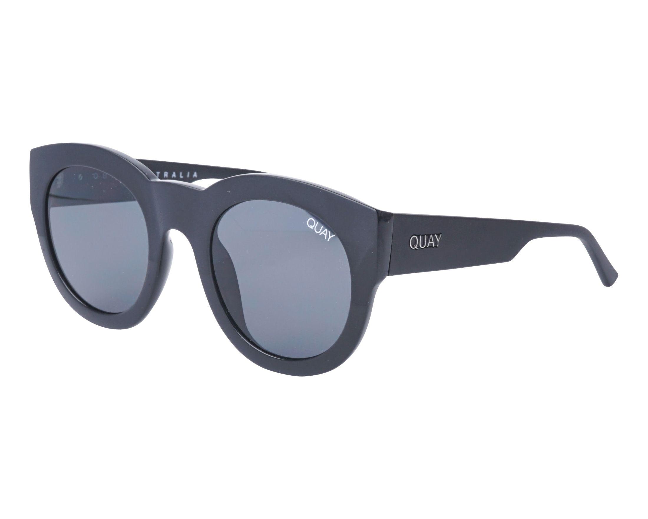 a002fb7df051a Sunglasses Quay Australia QW-000288 BLK-SMK 50-17 Black Black profile view
